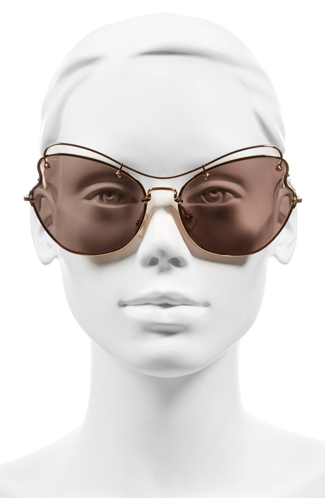 65mm Sunglasses,                             Alternate thumbnail 2, color,                             Light Purple