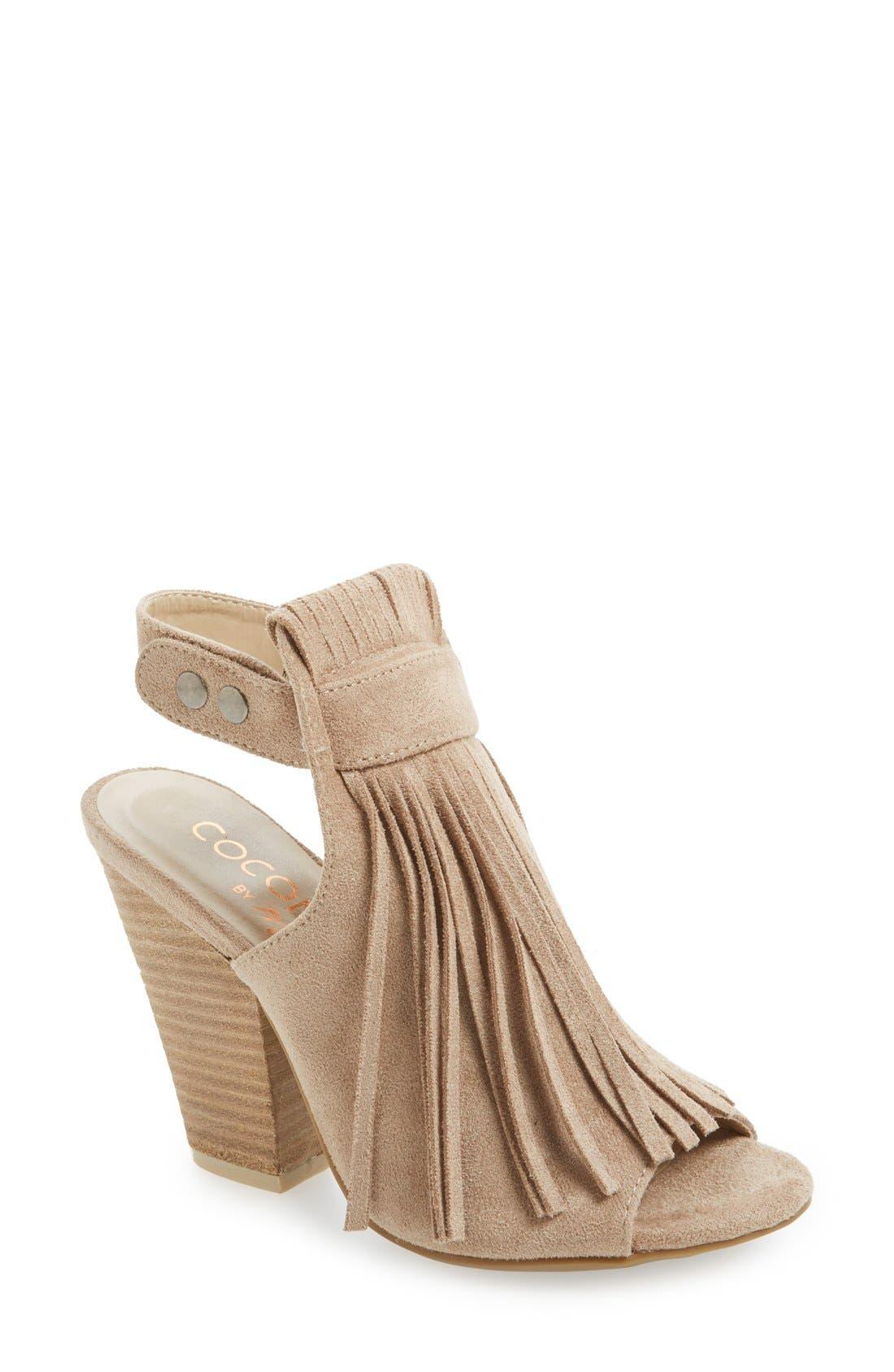 Matisse 'Skye' Fringe Sandal,                         Main,                         color, Natural Faux Leather