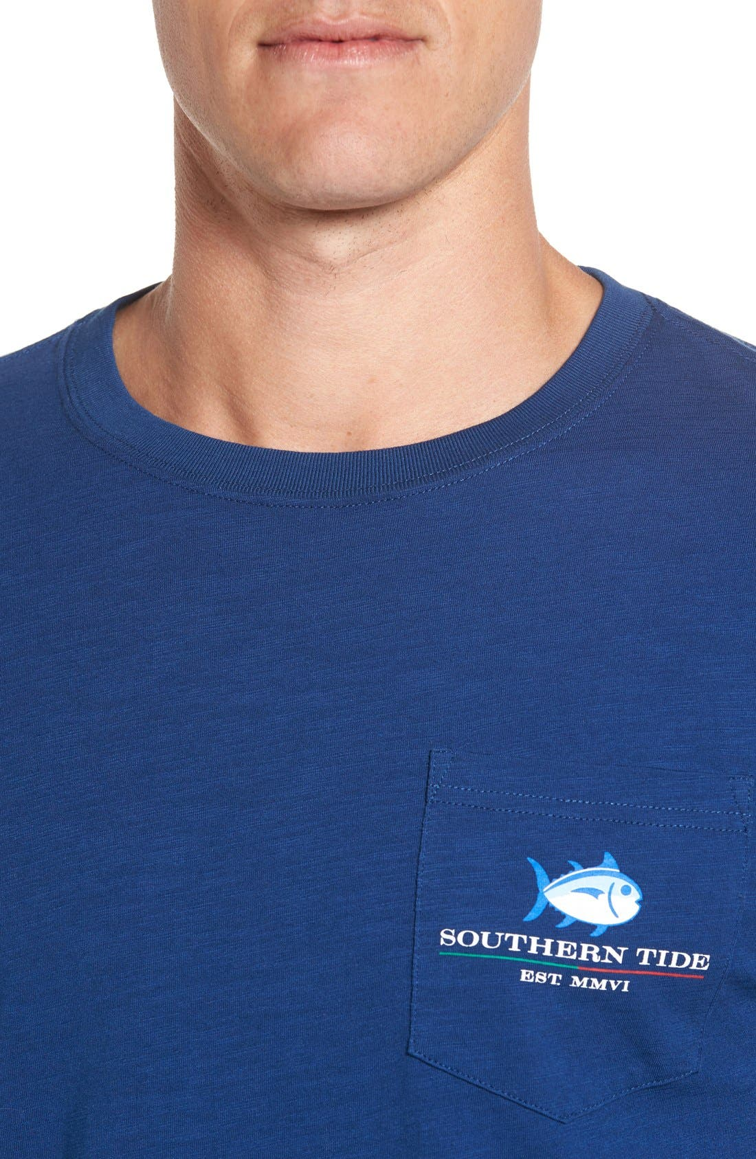 Alternate Image 4  - Southern Tide 'Channel Marker' Graphic Pocket Long Sleeve T-Shirt