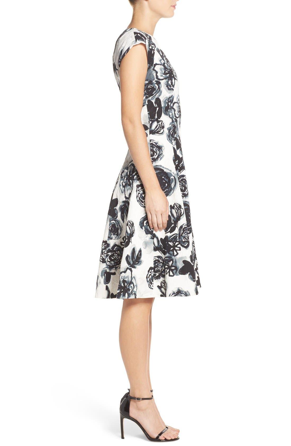 Alternate Image 2  - Sachin & Babi Noir 'Desiree' Floral Jacquard Fit & Flare Dress