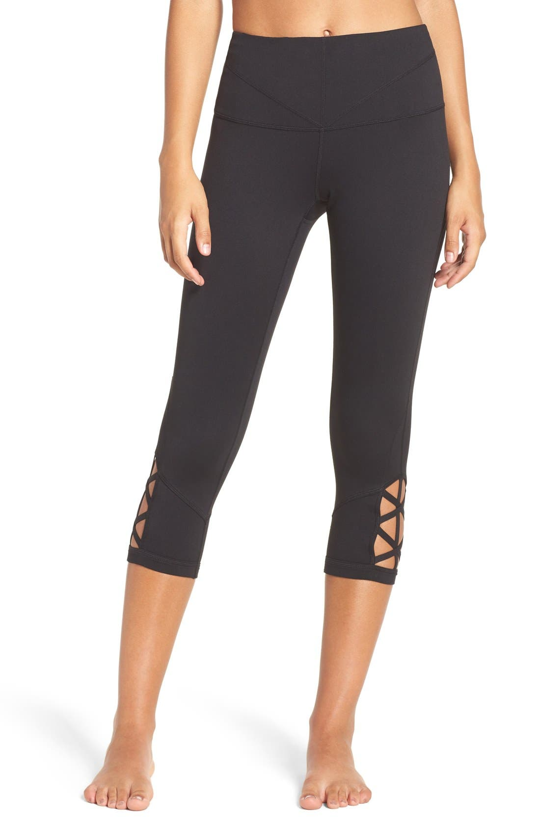 Main Image - Zella 'Midnight' High Waist Crop Leggings