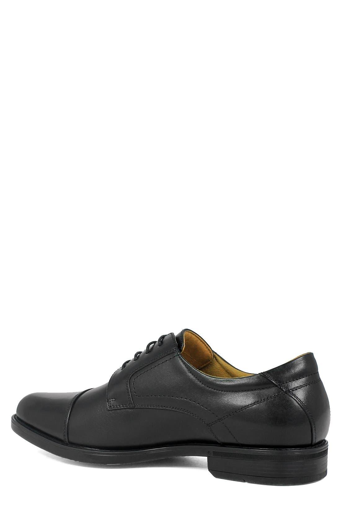 'Midtown' Cap Toe Derby,                             Alternate thumbnail 2, color,                             Black Leather