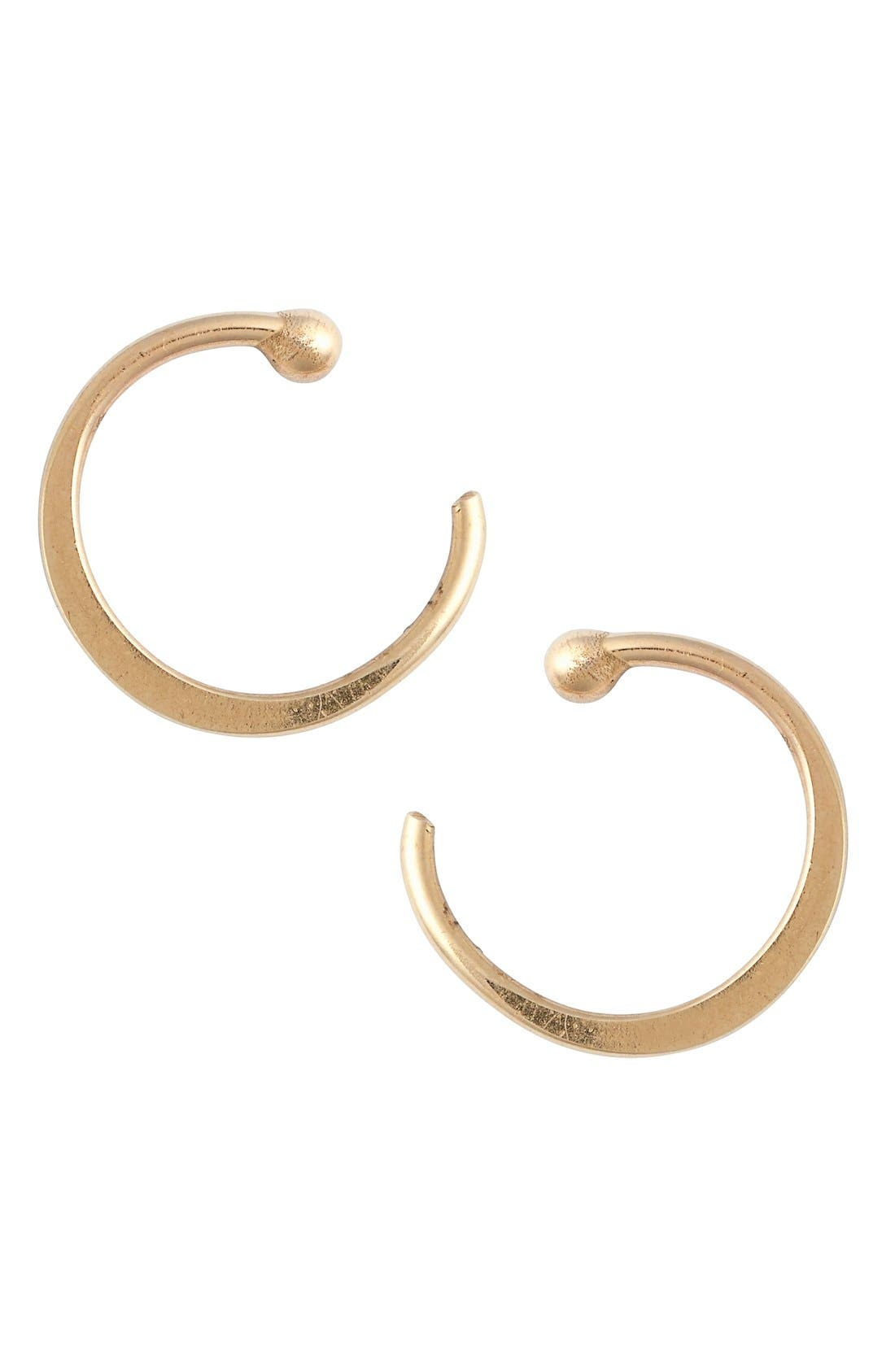MELISSA JOY MANNING Gold Hug Hoop Earrings