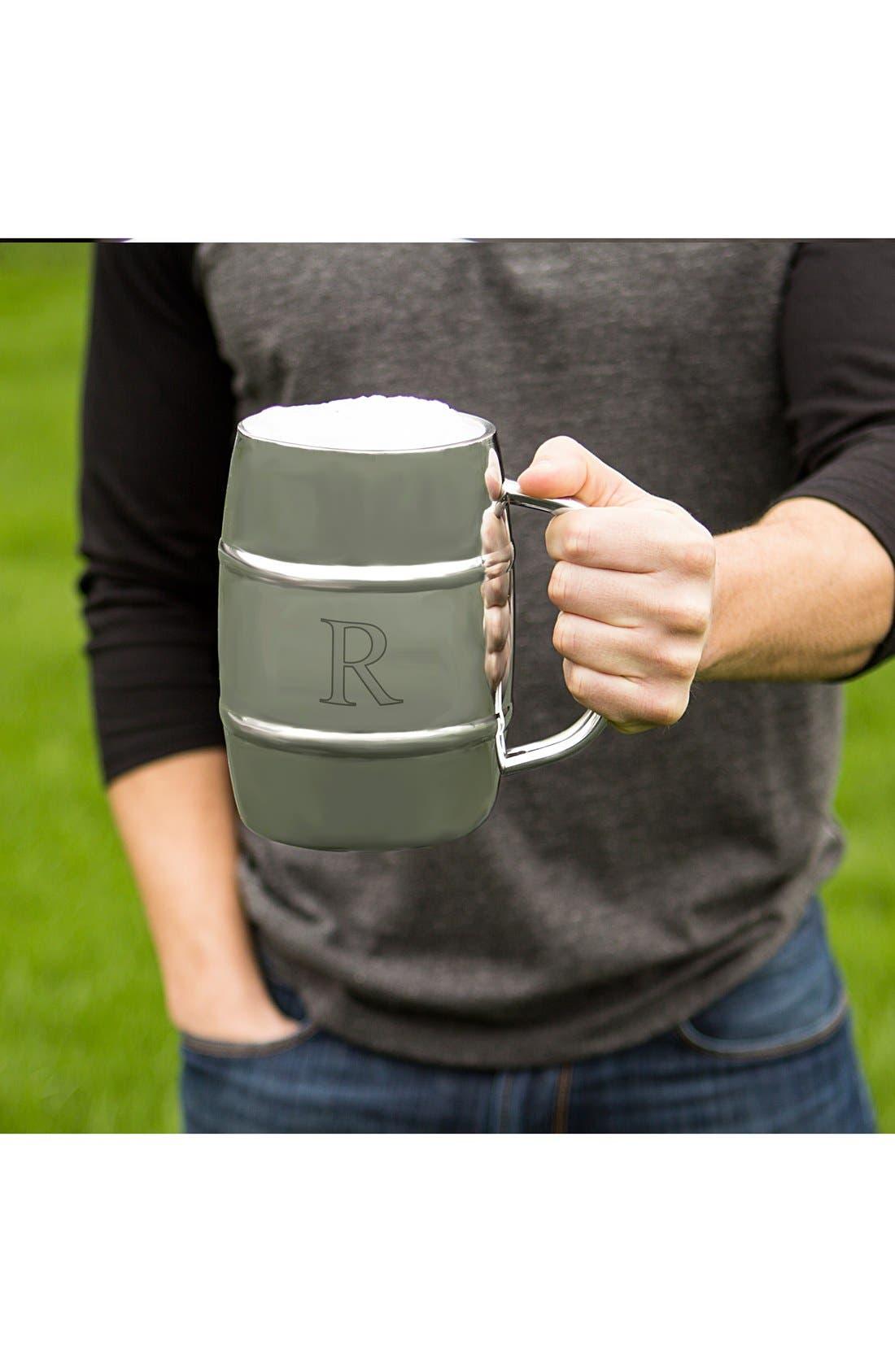 'XL Beer Keg' Monogram Mug,                             Alternate thumbnail 3, color,