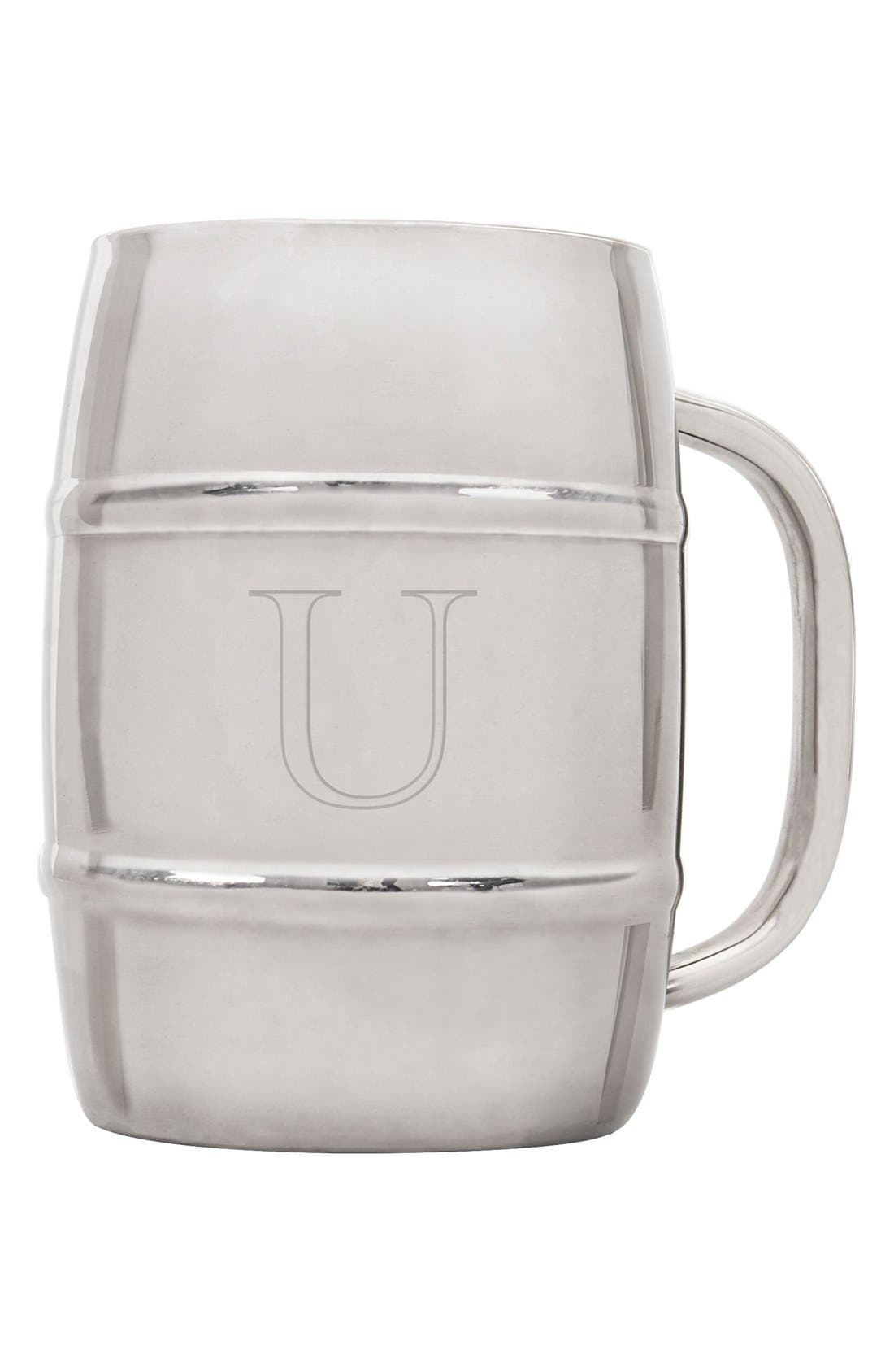 Alternate Image 1 Selected - Cathy's Concepts 'XL Beer Keg' Monogram Mug