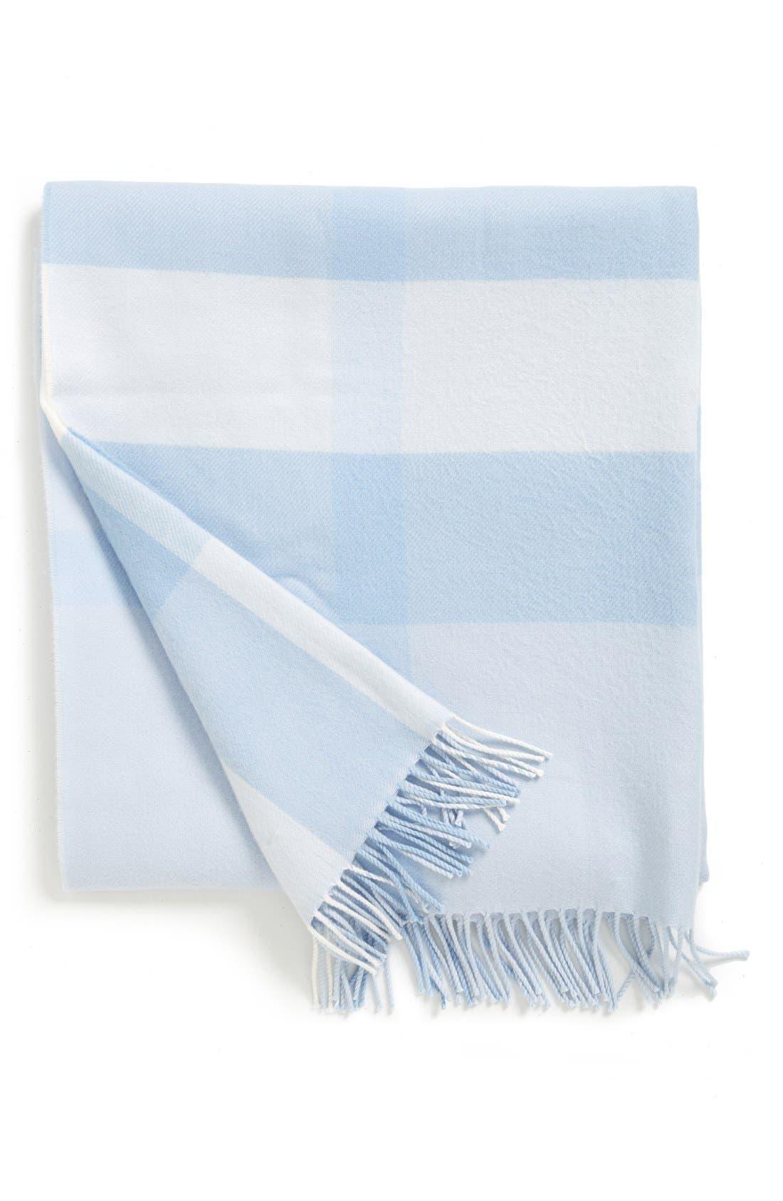 Merino Wool Blanket,                         Main,                         color, Ice Blue