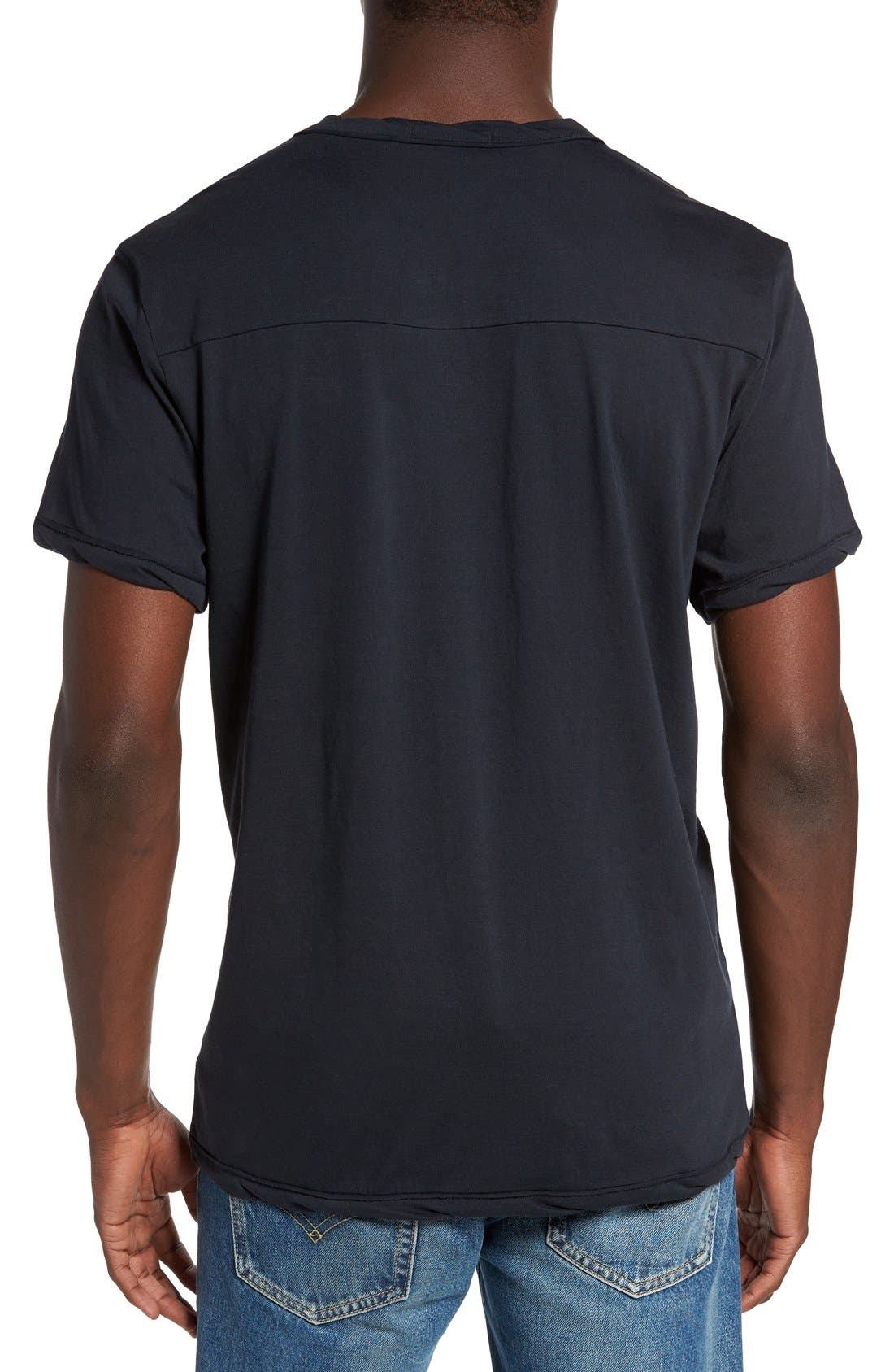 Alternate Image 2  - Alternative Notched Neck Organic Cotton T-Shirt