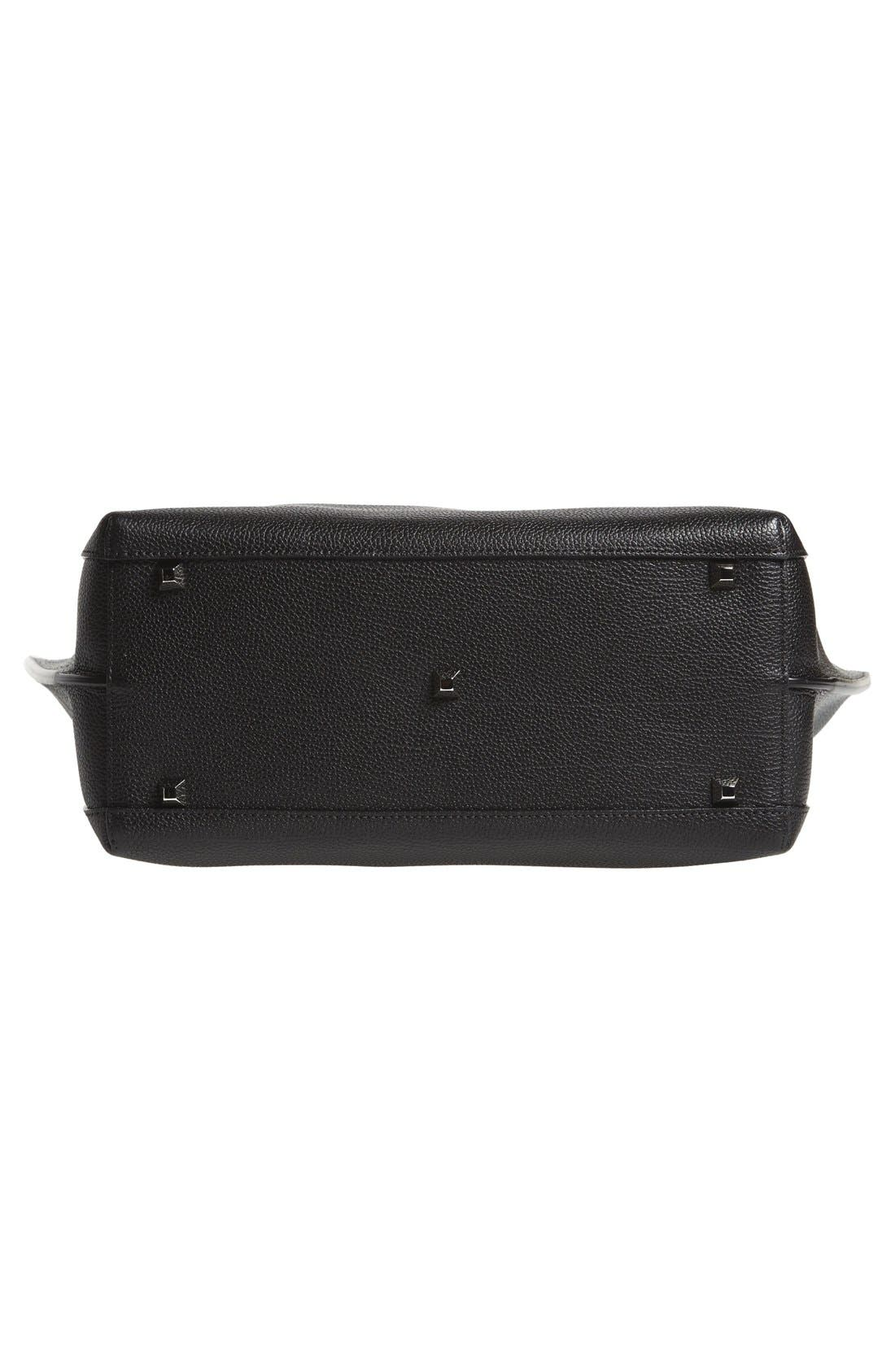 'Medium Sophie' Leather Shopper,                             Alternate thumbnail 6, color,                             Black