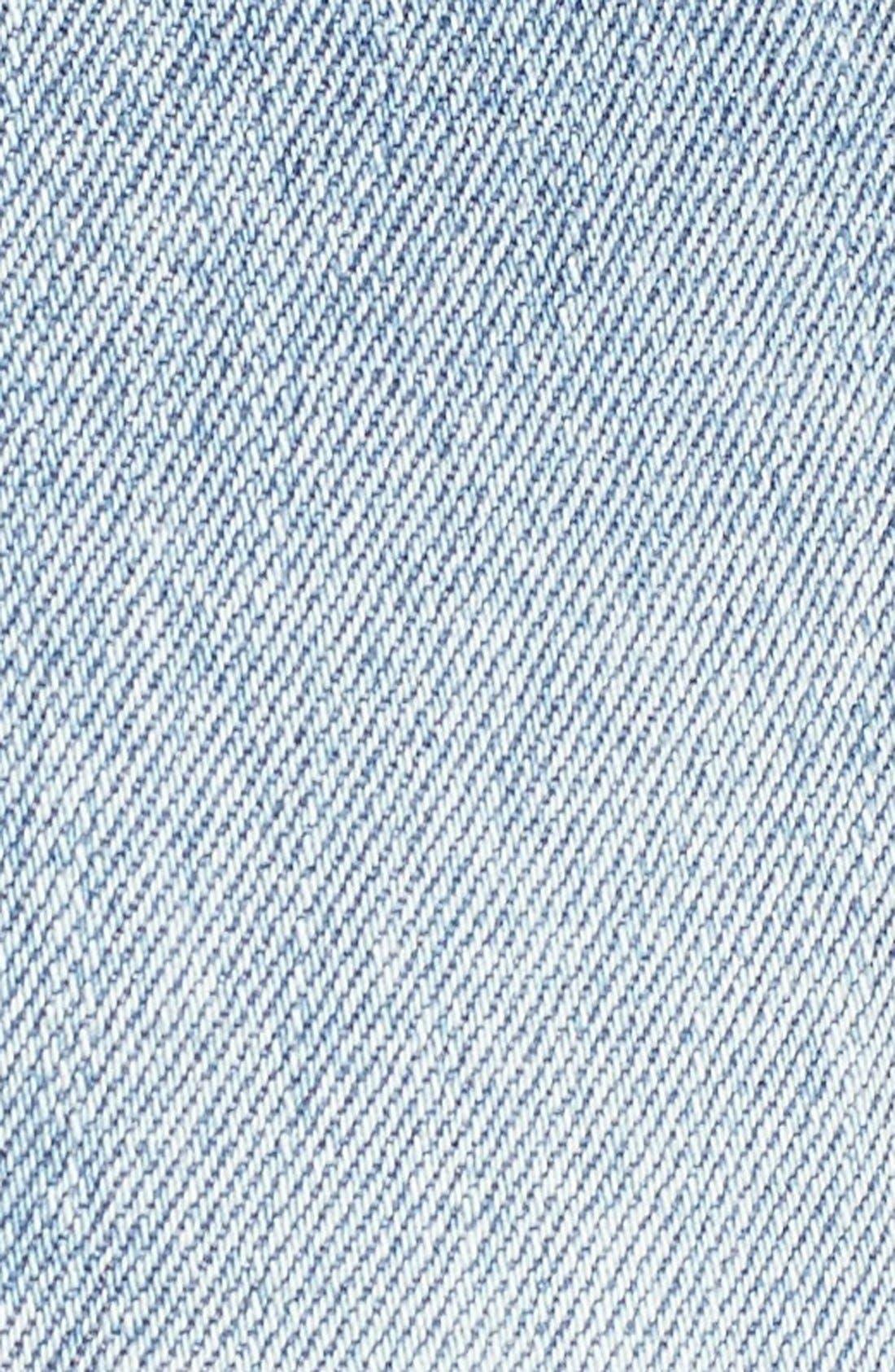 Alternate Image 5  - RVCA Cutoff Patch Denim Shorts