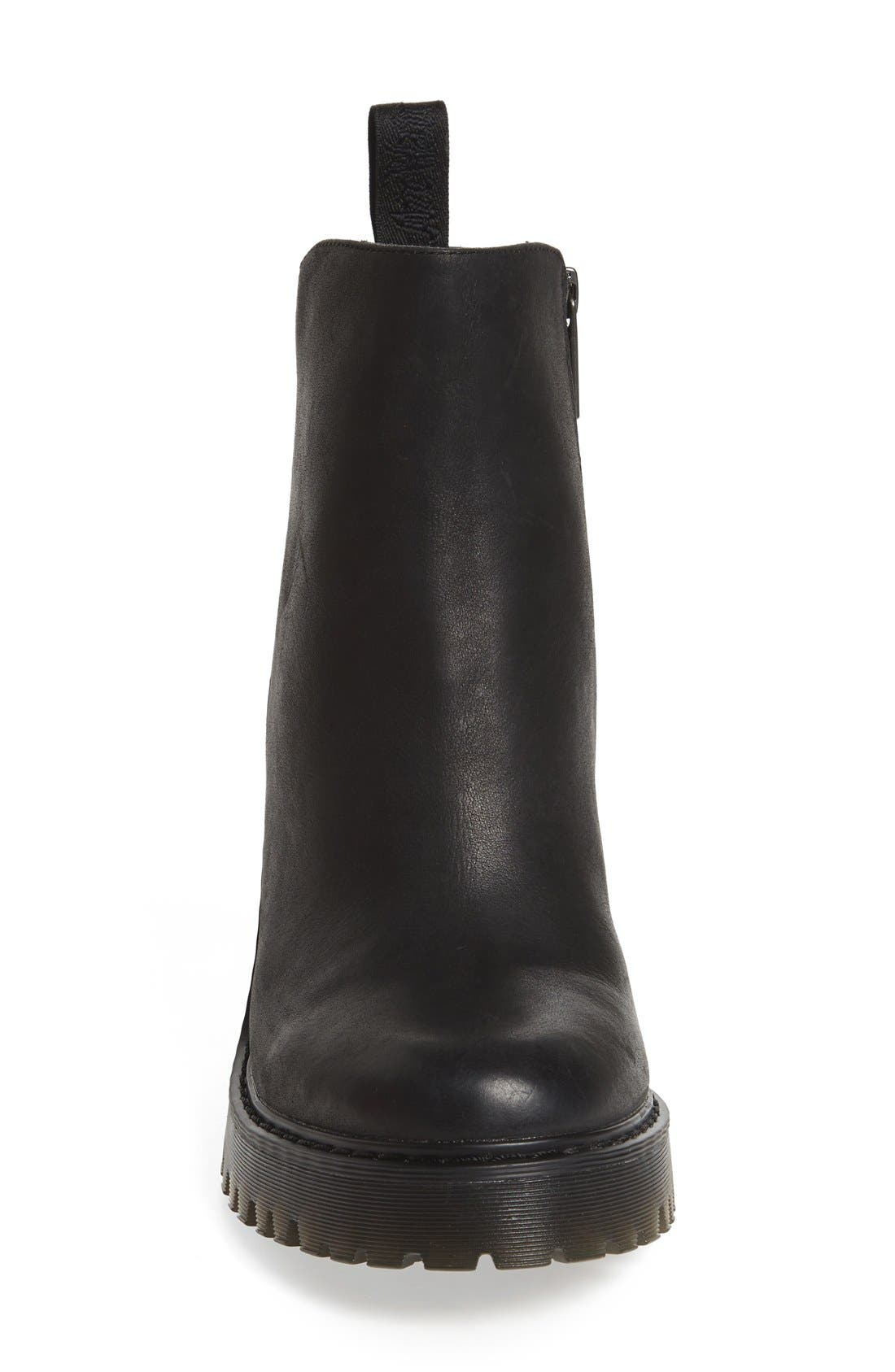 'Magdalena' Platform Bootie,                             Alternate thumbnail 3, color,                             Black Wyoming