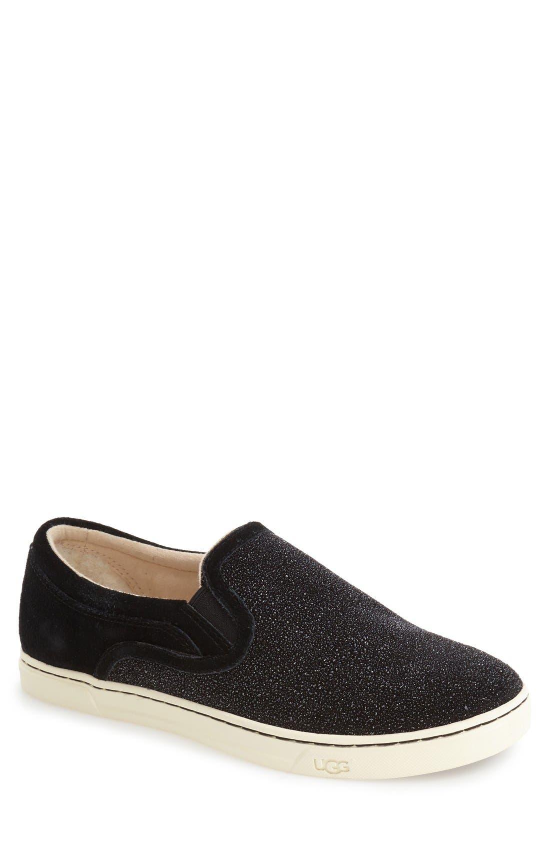 Fierce Slip-On Sneaker,                             Main thumbnail 1, color,                             Black Fabric