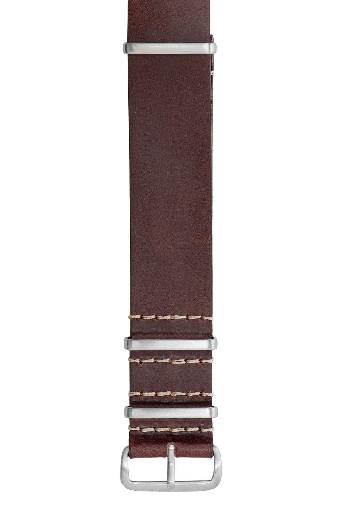 JACK MASON Leather Watch Strap, 22mm