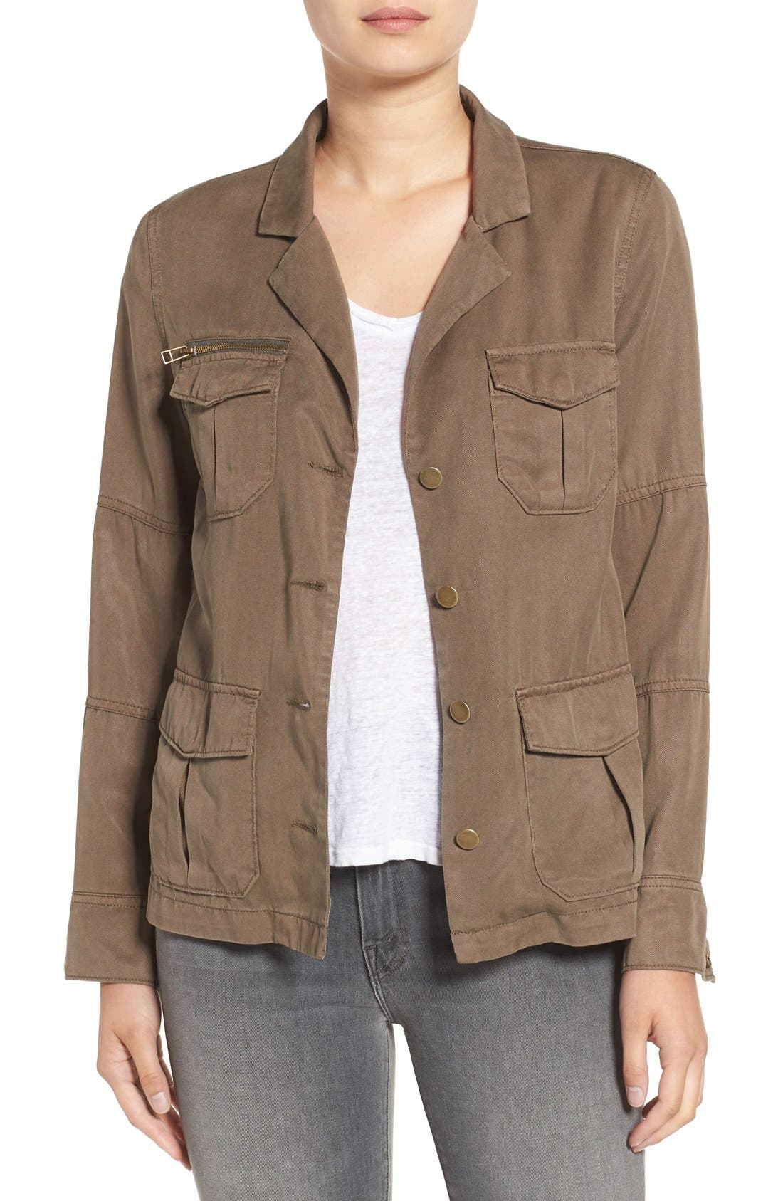 Alternate Image 1 Selected - Pam & Gela Embroidered Military Jacket