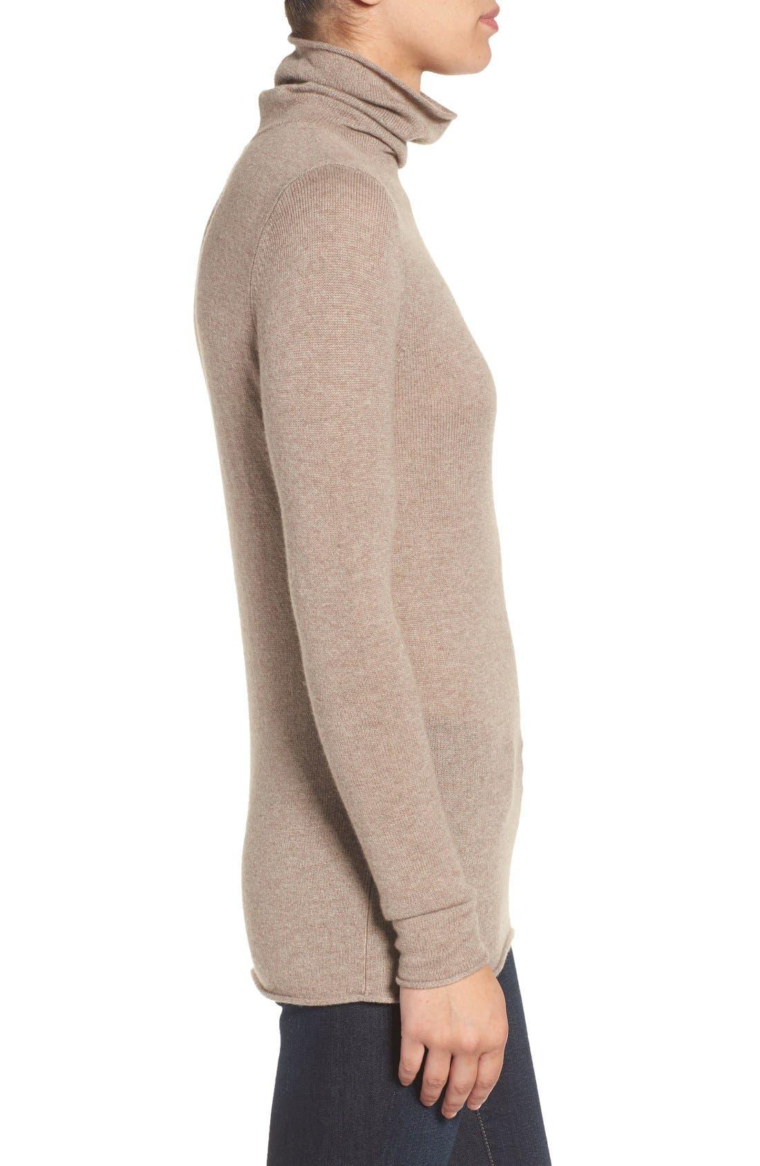 Alternate Image 3  - Halogen® Wool & Cashmere Funnel Neck Sweater (Regular & Petite)