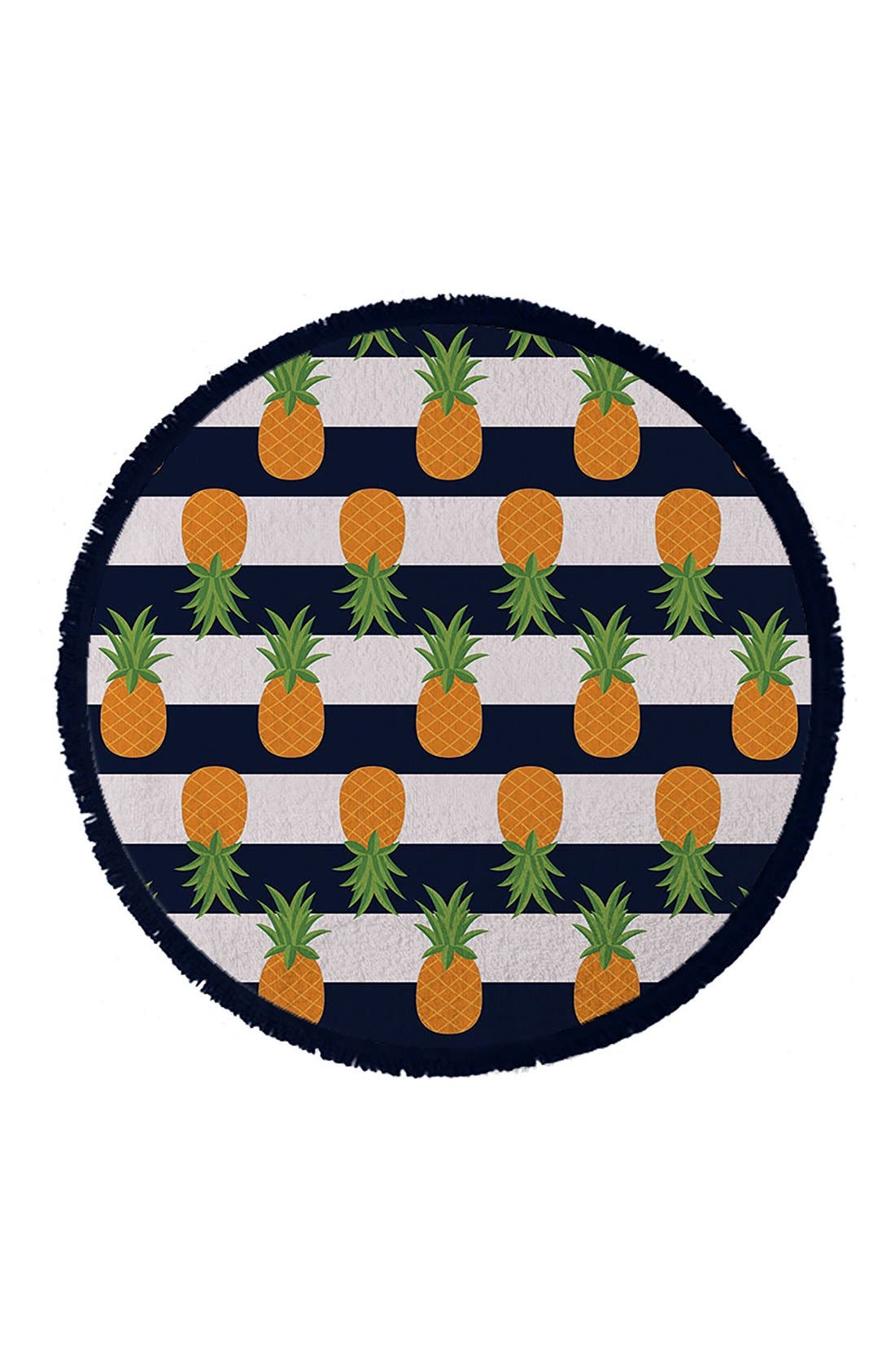 Alternate Image 1 Selected - Round Towel Co. Nautical Pineapple Towel