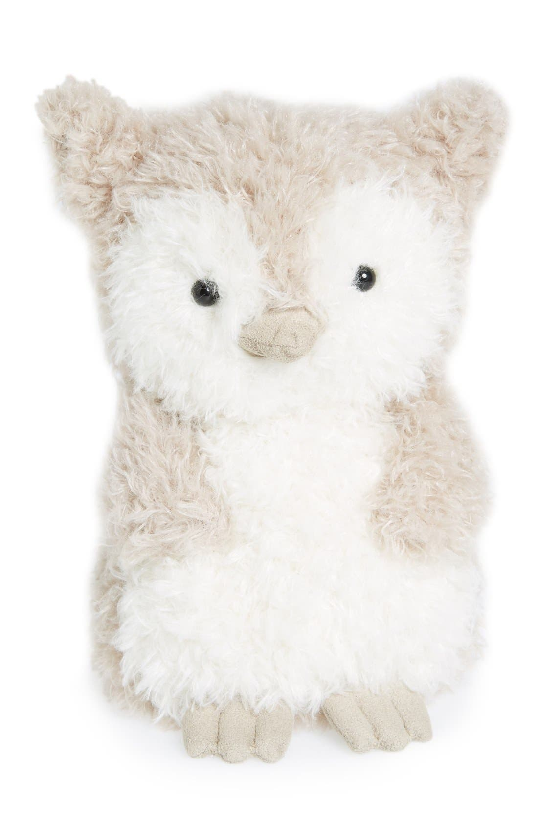 'Wake Up Little Owl' Stuffed Animal,                             Main thumbnail 1, color,                             Grey