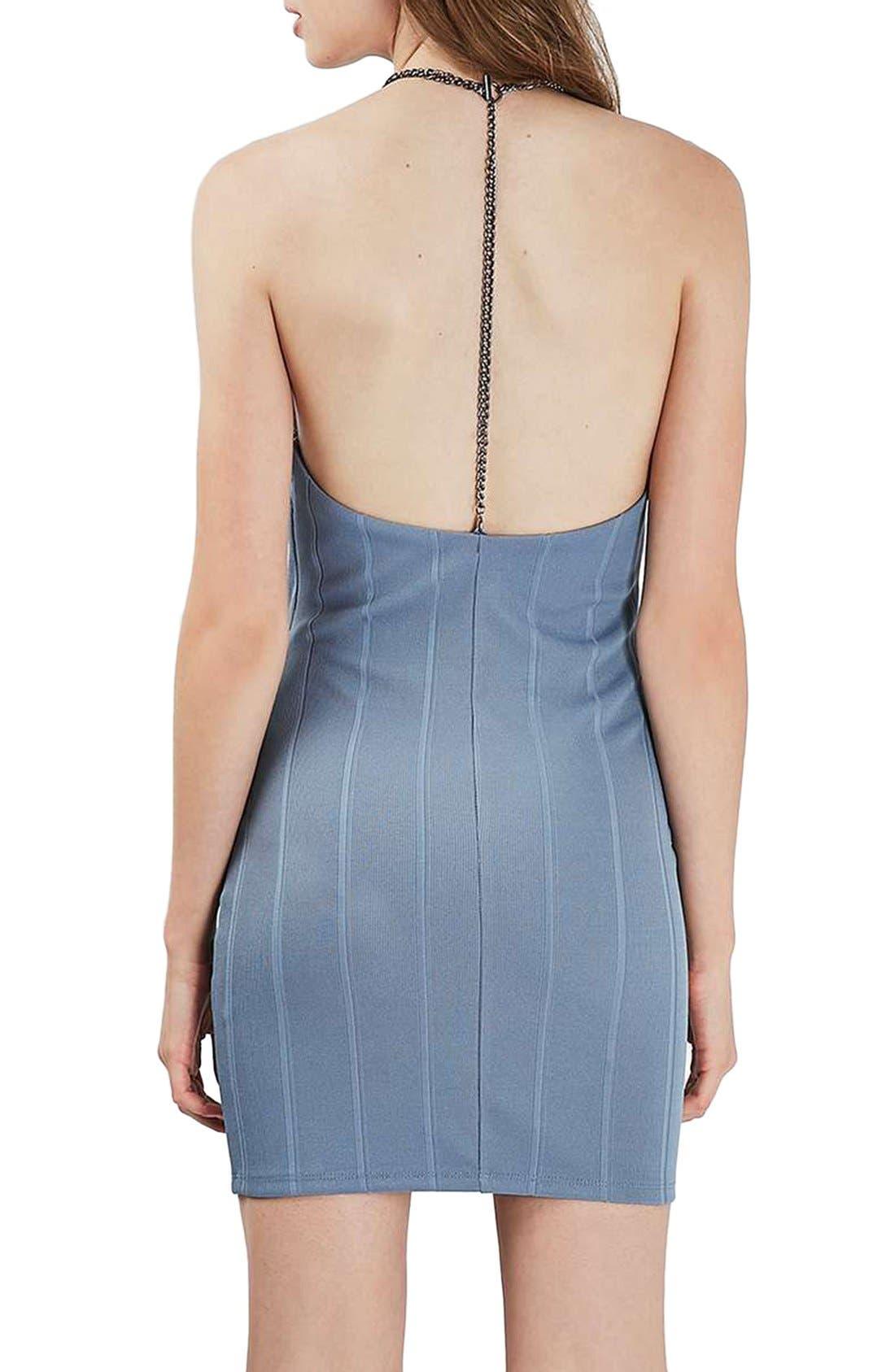Alternate Image 2  - Topshop Chain Strap Bandage Body-Con Dress