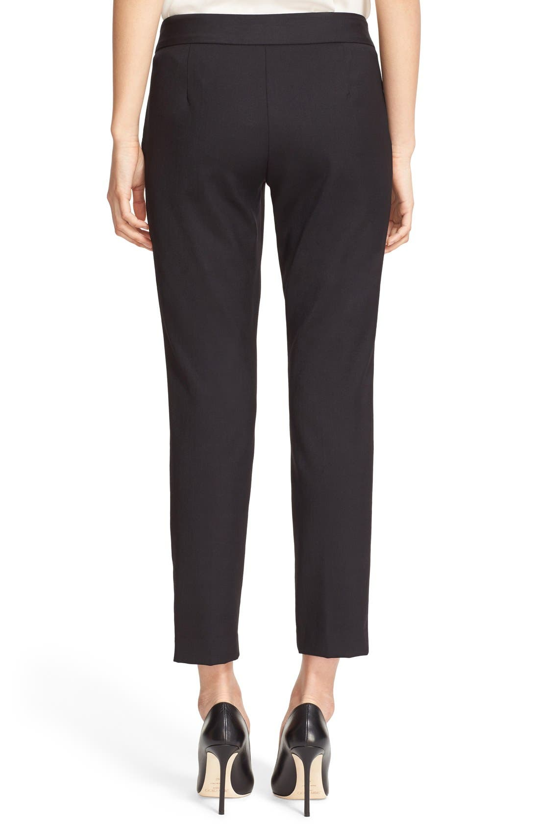 Alternate Image 2  - Milly Stretch Wool Skinny Ankle Pants