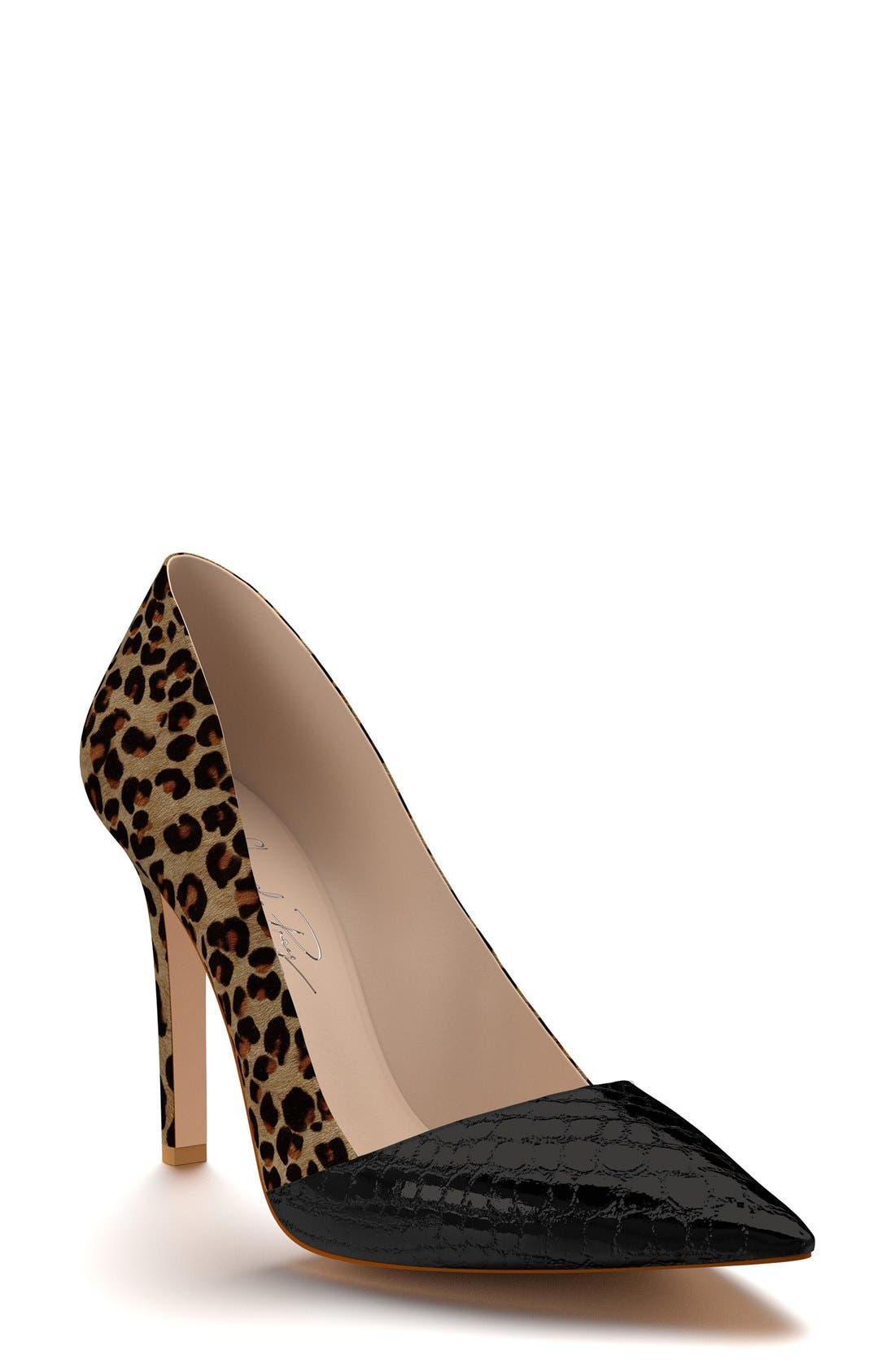 Alternate Image 1 Selected - Shoes of Prey Genuine Calf Hair Pointy Toe Pump (Women)