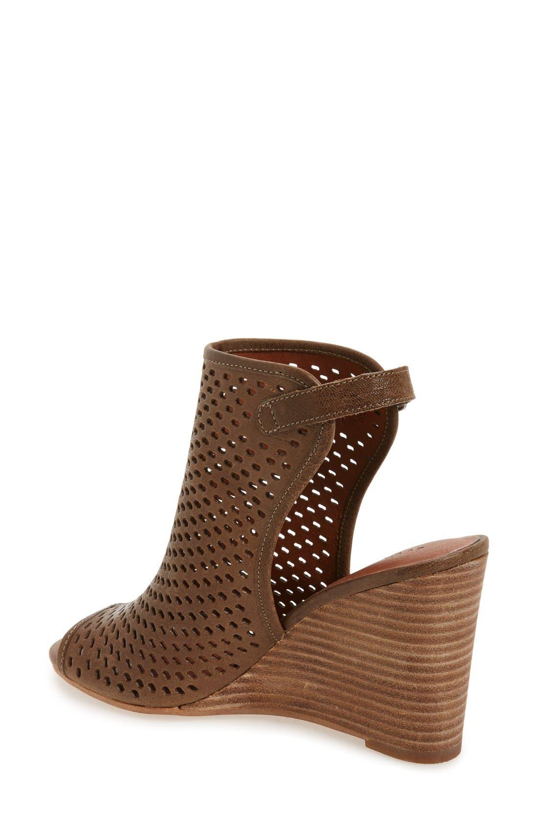 Alternate Image 2  - Lucky Brand 'Rozina' Cutout Wedge Sandal (Women)