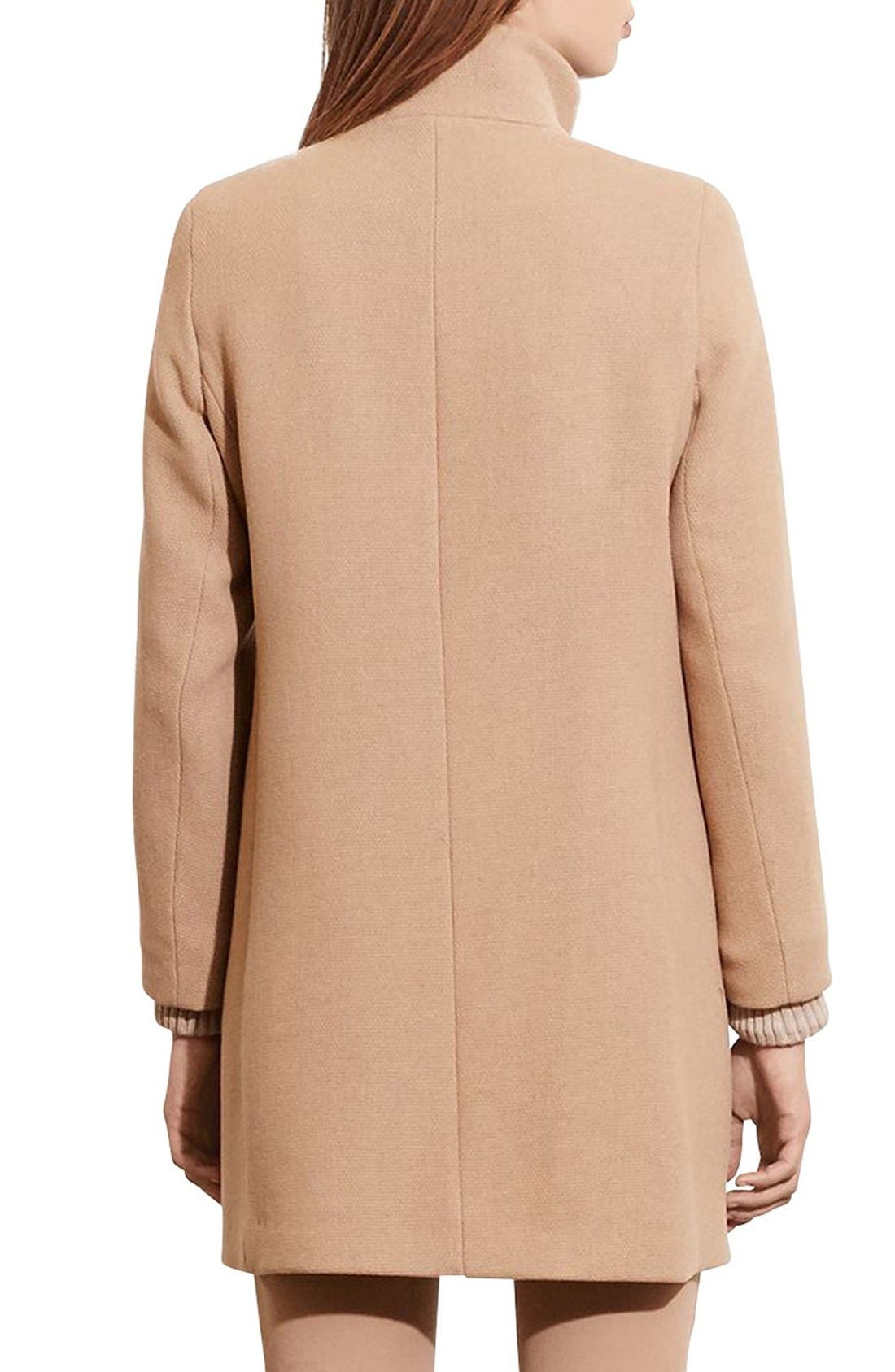 Alternate Image 2  - Lauren Ralph Lauren Funnel Neck Wool Coat
