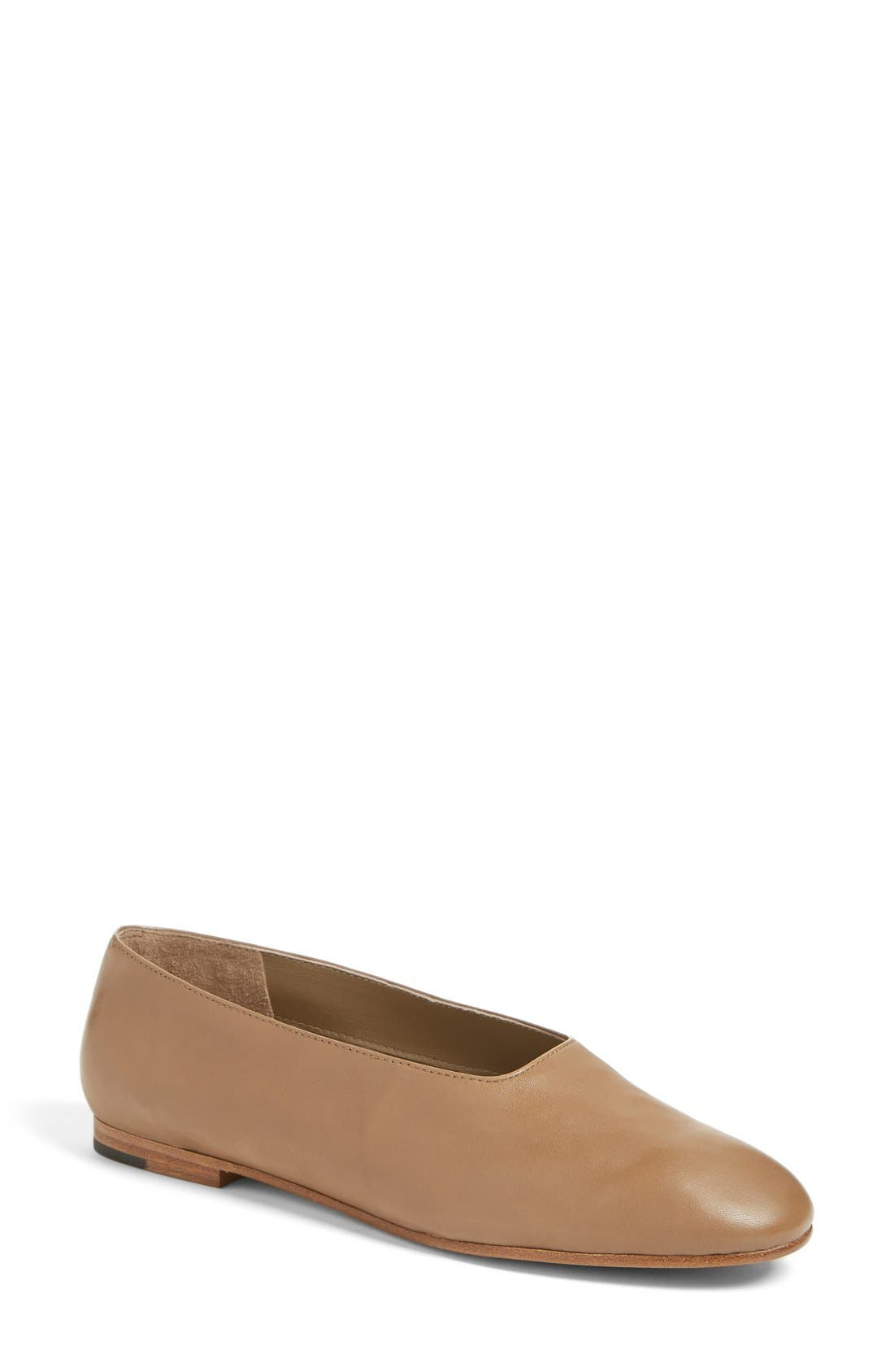 'Maxwell' Flat,                             Main thumbnail 1, color,                             Dark Taupe Leather