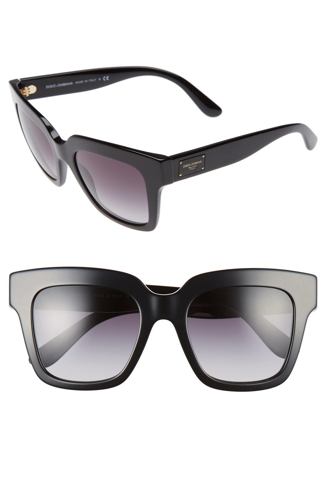Dolce&Gabbana 51mm Square Sunglasses