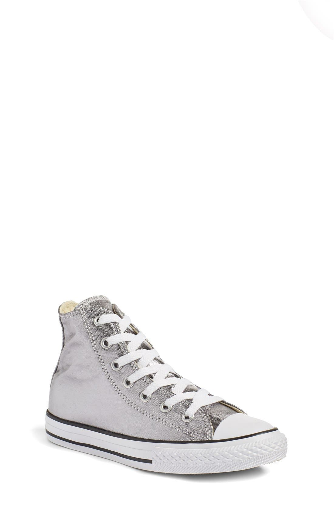 CONVERSE Chuck Taylor<sup>®</sup> All Star<sup>®</sup> Metallic High Top Sneaker