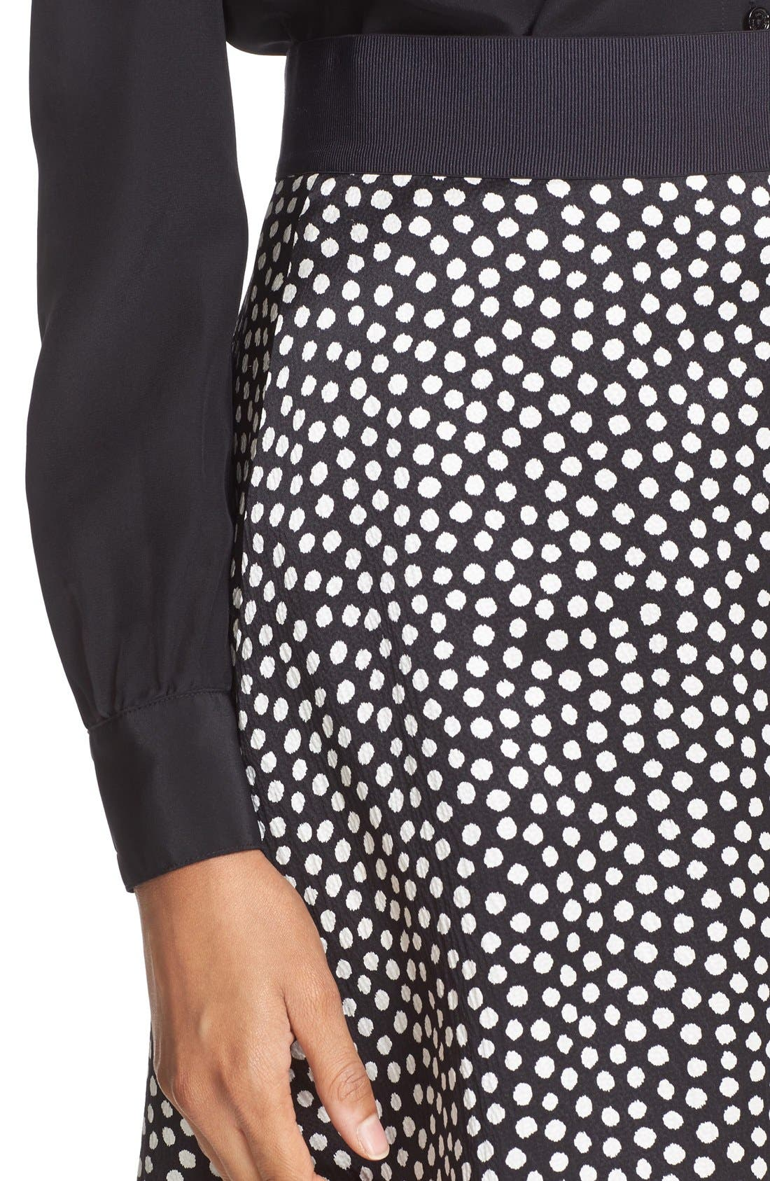 Alternate Image 4  - kate spade new york spot print silk flippy skirt