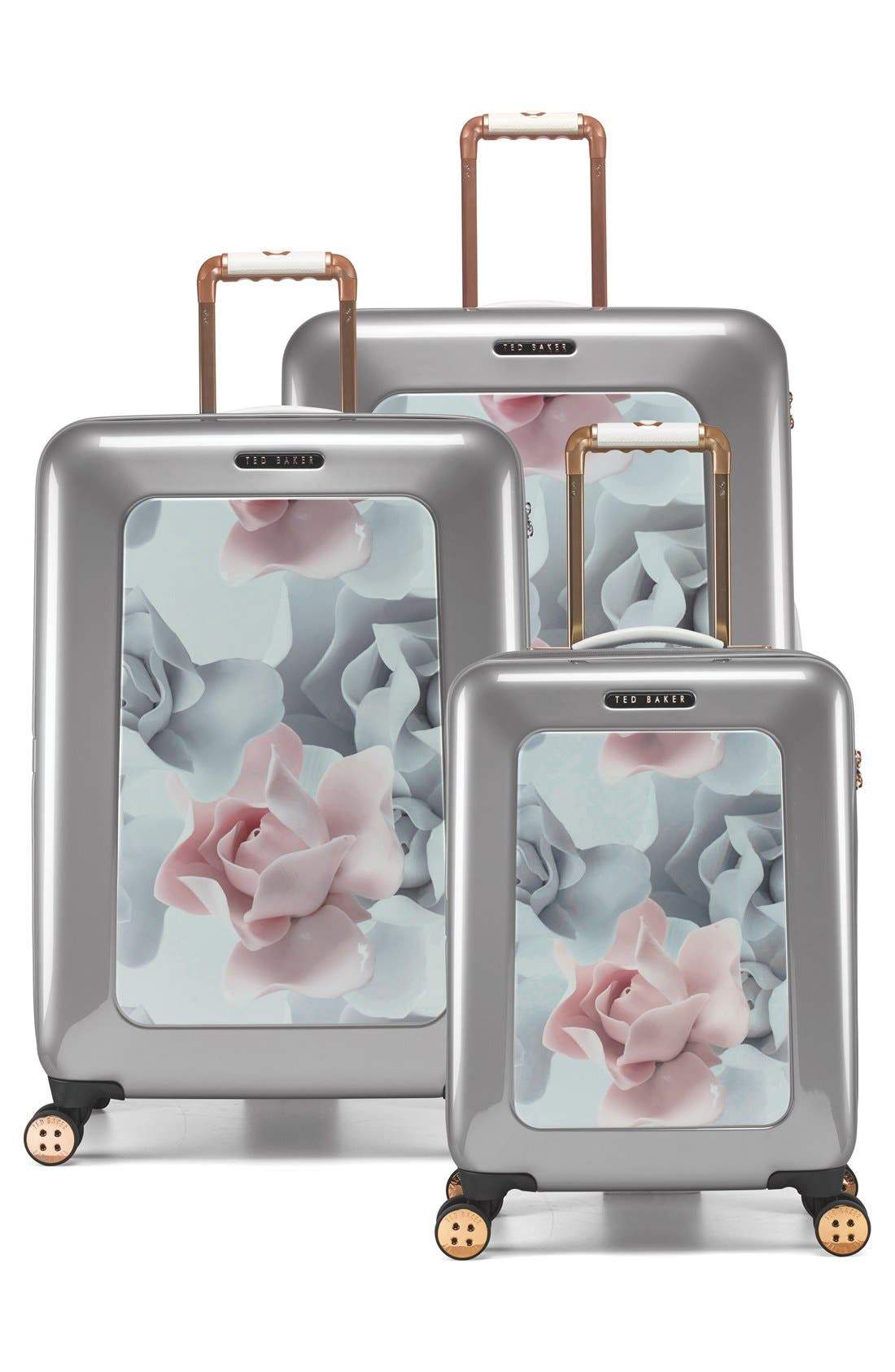 Alternate Image 5  - Ted Baker London 'Small Porcelain Rose' Four Wheel Suitcase (22 Inch)