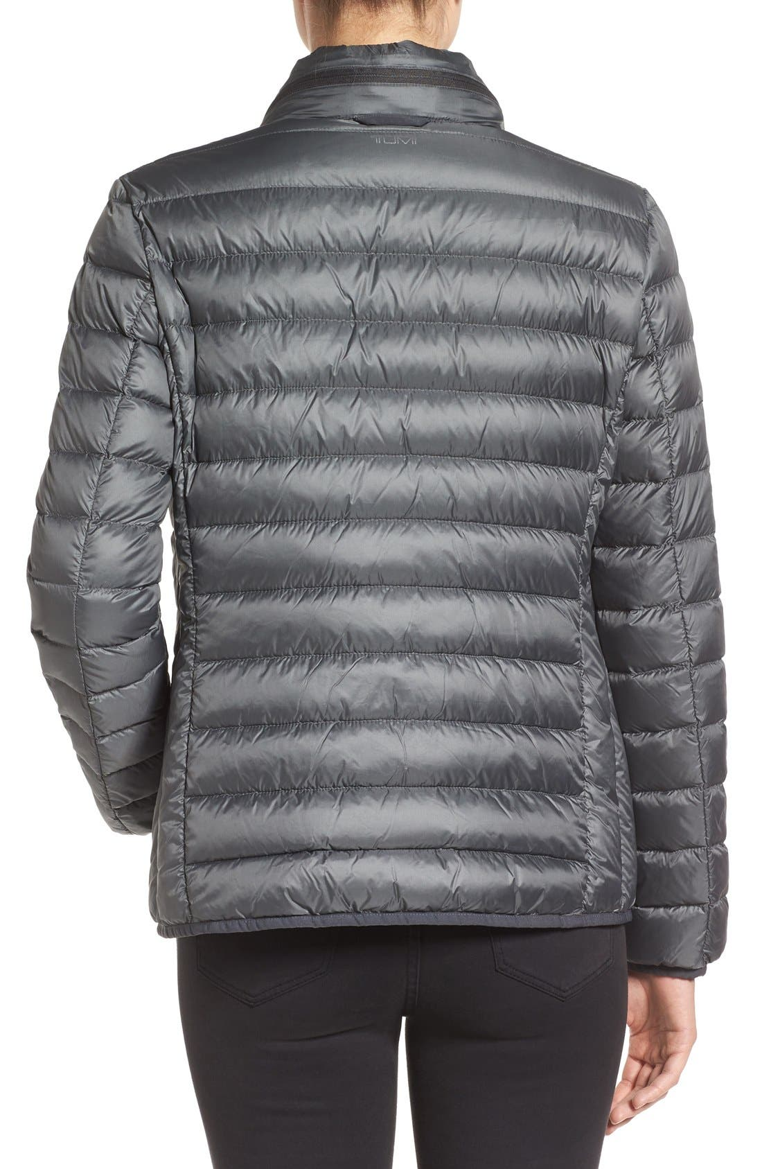 Pax on the Go Packable Quilted Jacket,                             Alternate thumbnail 2, color,                             Slate Grey