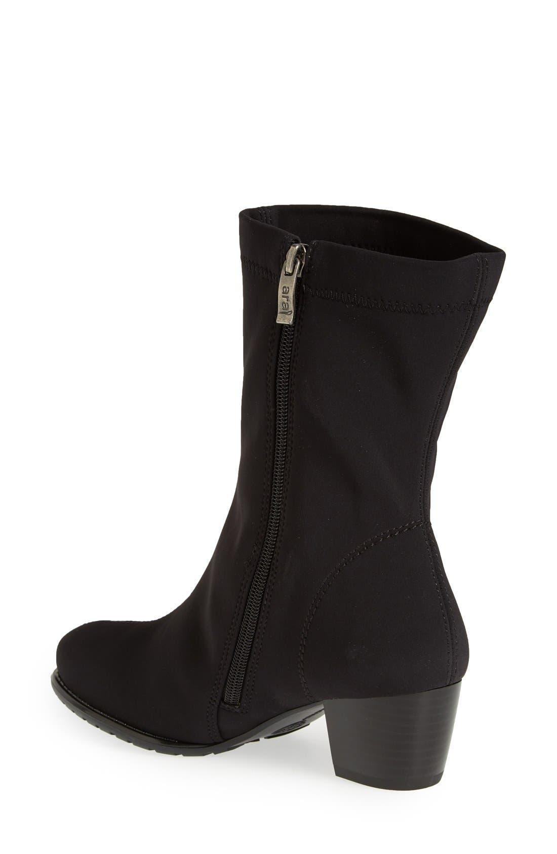 'Fairfax' Waterproof Gore-Tex<sup>®</sup> Block Heel Boot,                             Alternate thumbnail 2, color,                             Black Fabric