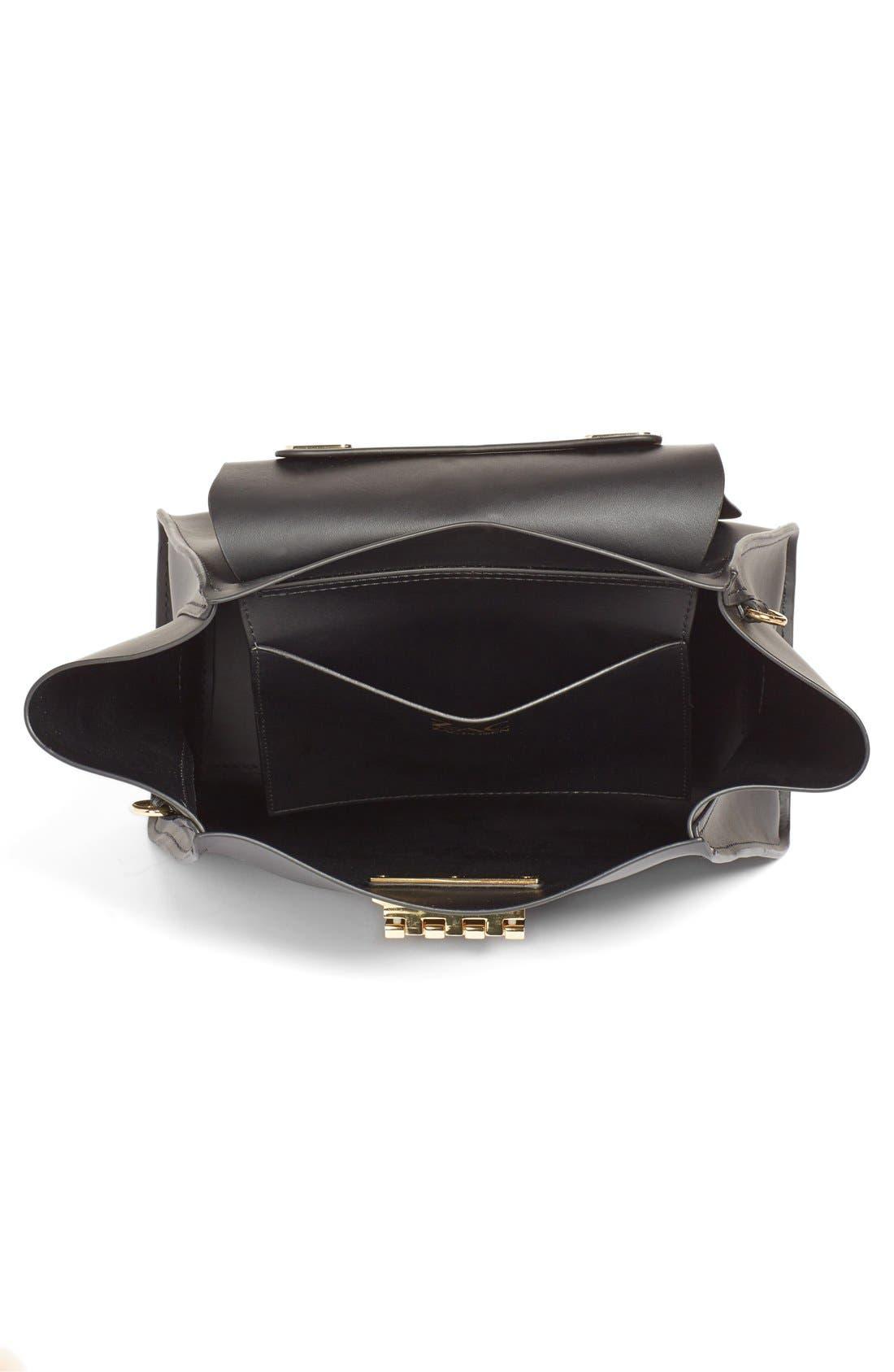 'Eartha Iconic' Leather Backpack,                             Alternate thumbnail 5, color,                             Black