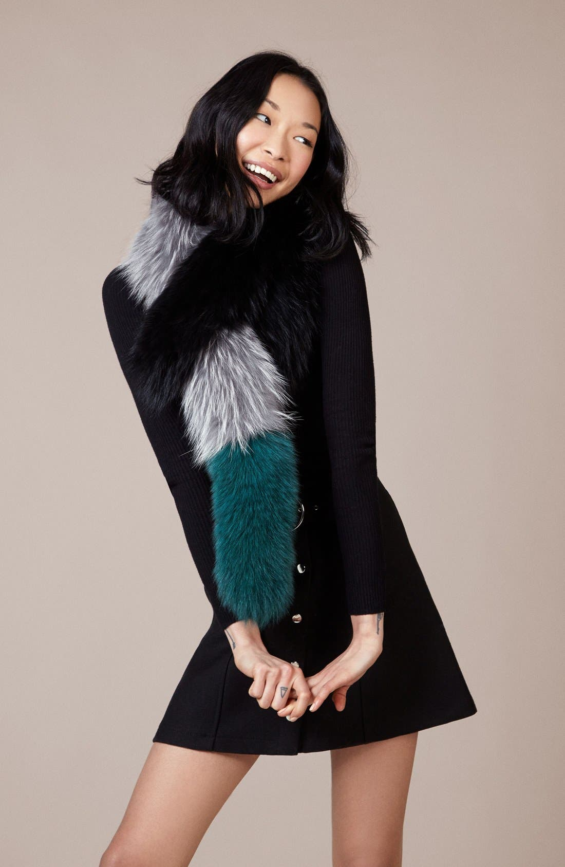 Alternate Image 2  - Charlotte Simone Popsicle Faux Fur Scarf