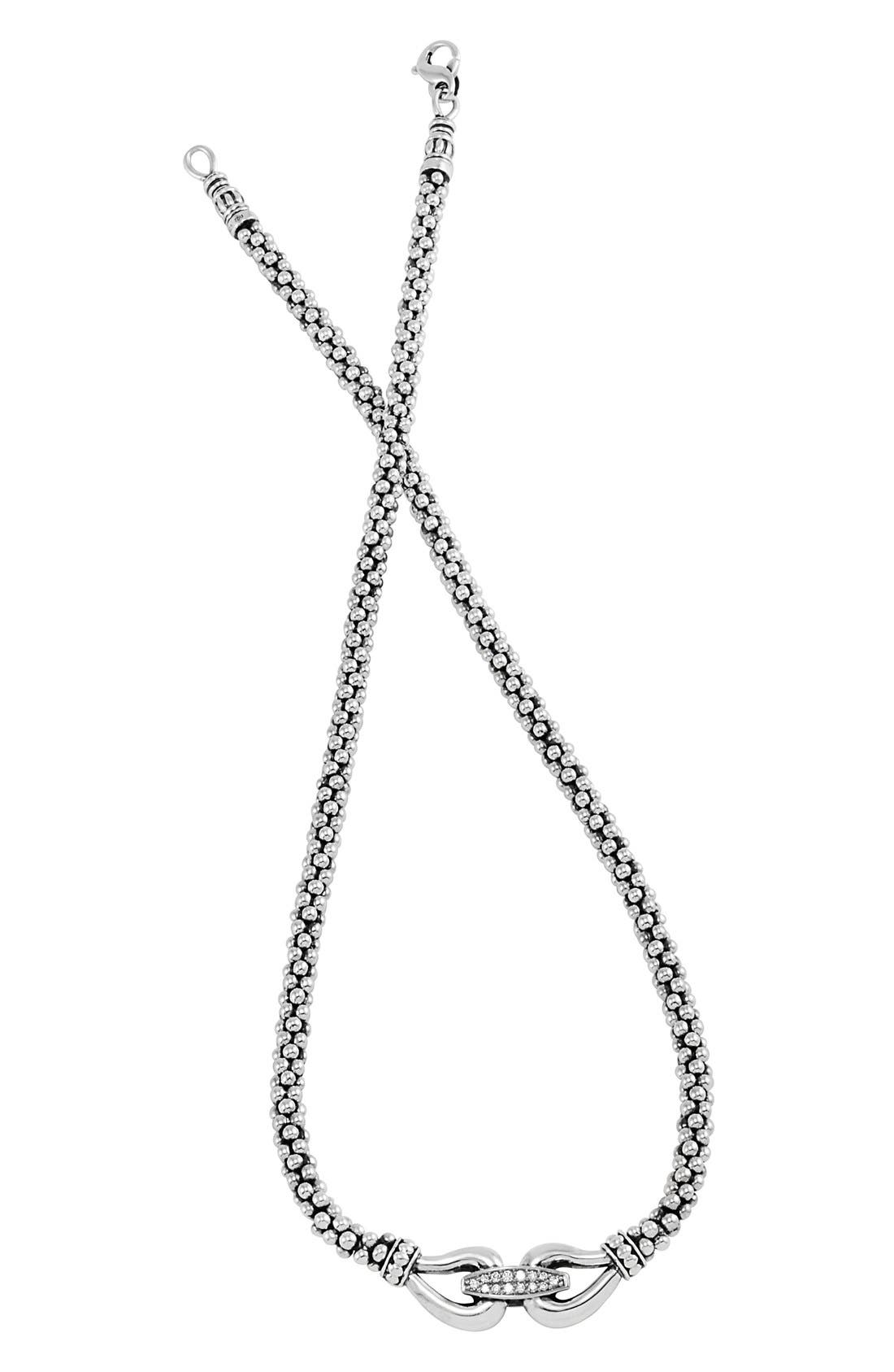 'Derby' Diamond Strand Necklace,                             Main thumbnail 1, color,                             Silver