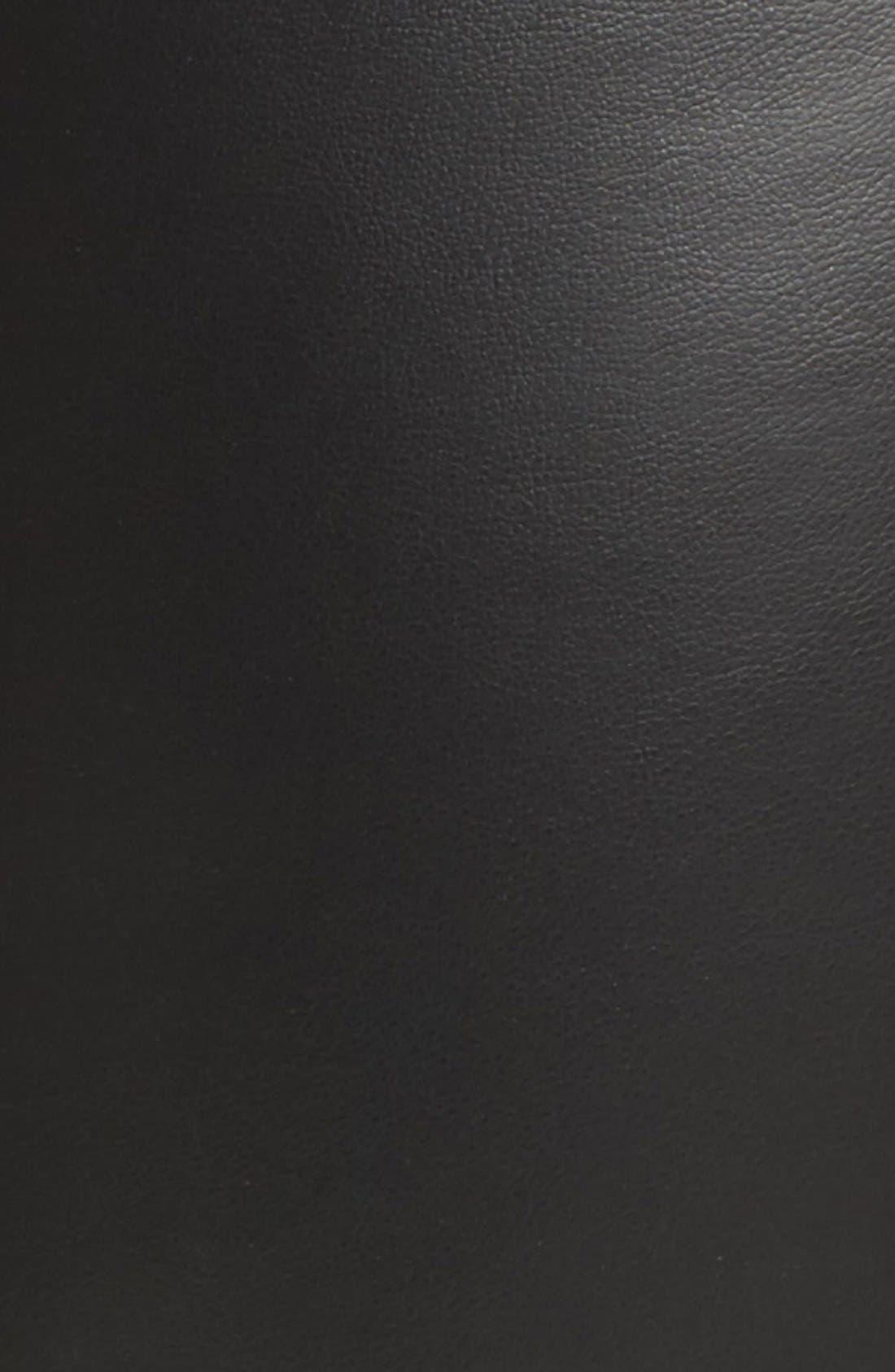 High Waist Faux Leather Leggings,                             Alternate thumbnail 5, color,                             Black