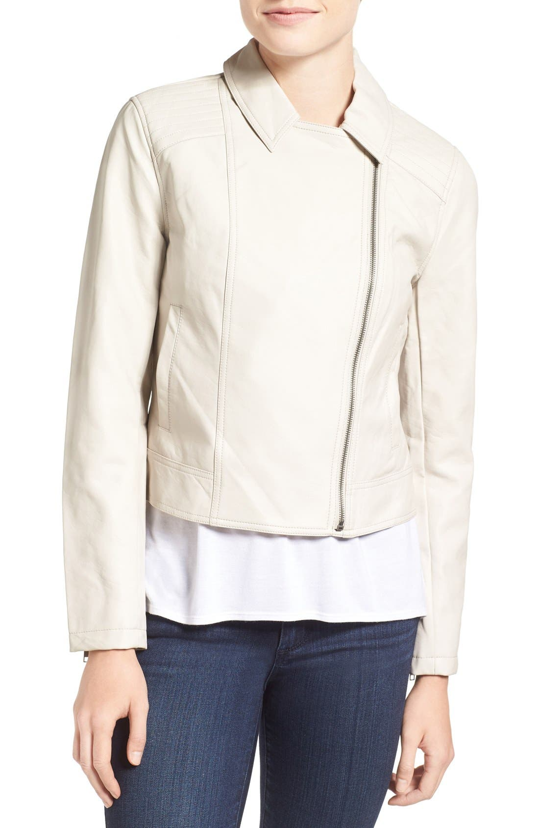 Alternate Image 4  - cupcakes and cashmere 'Joslyn' Faux Leather Moto Jacket