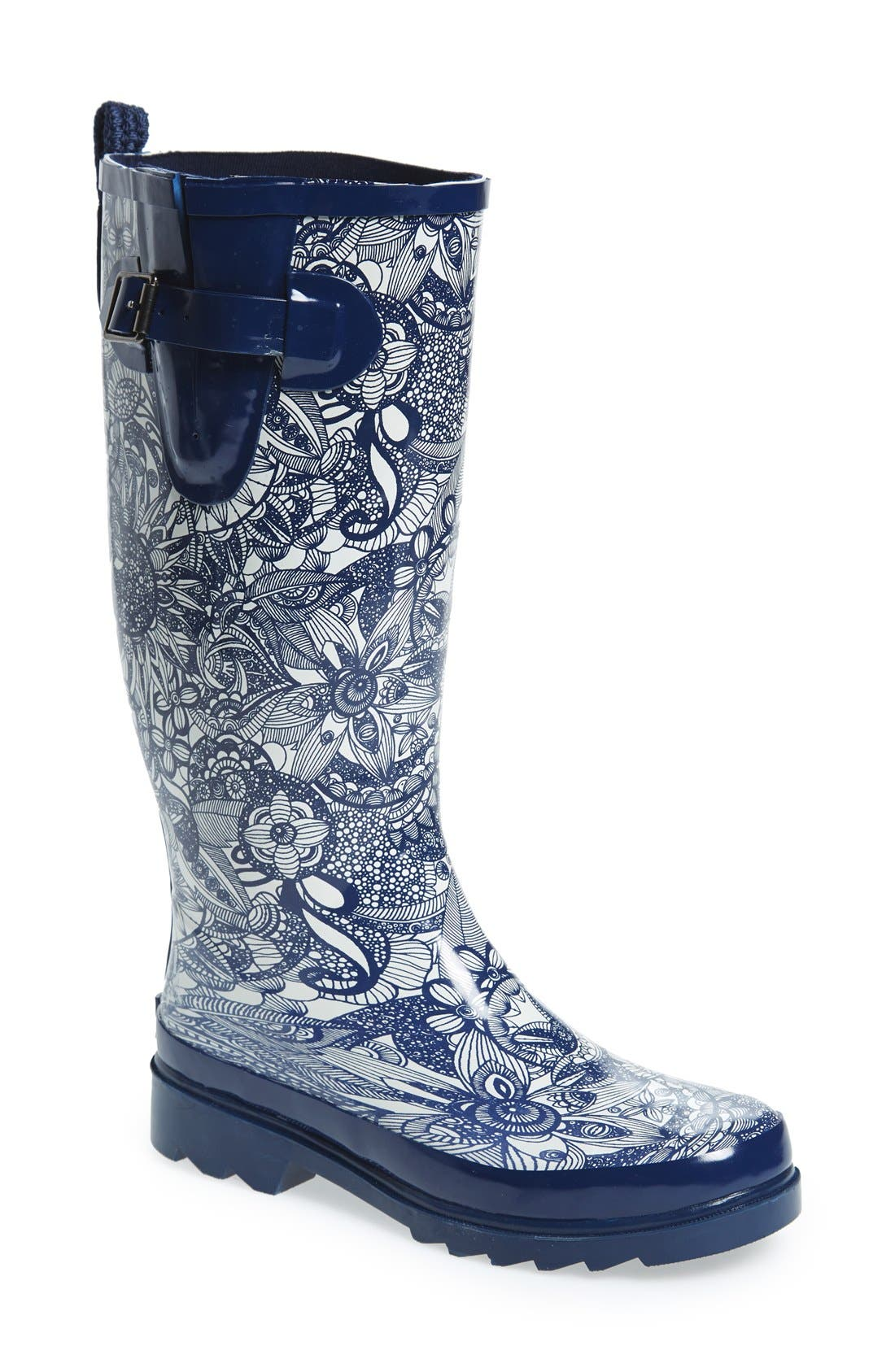 Sakroots 'Rhythm' Waterproof Rain Boot (Women)