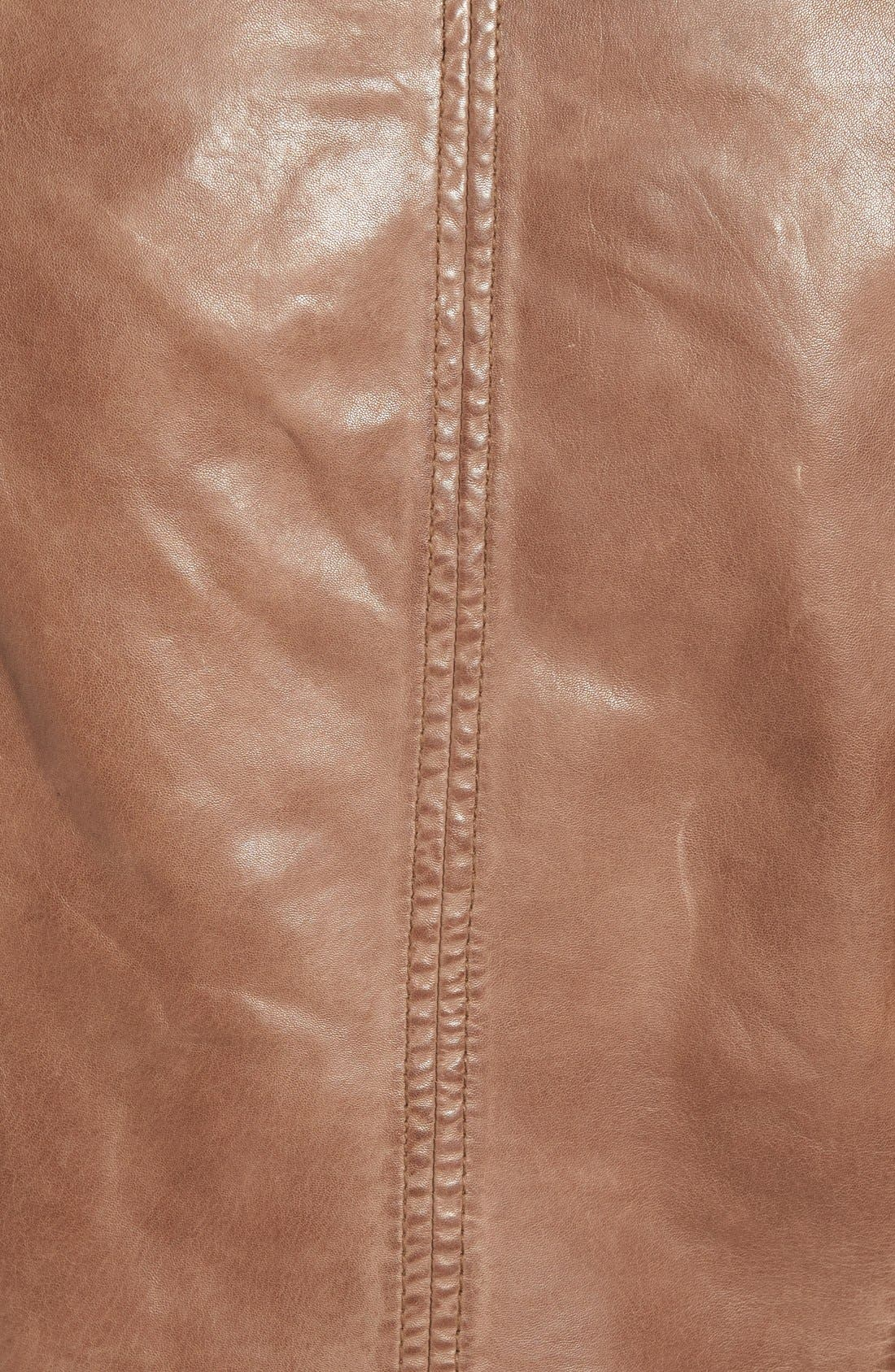 Alternate Image 5  - LAMARQUE TerriLambskin LeatherMotoJacket