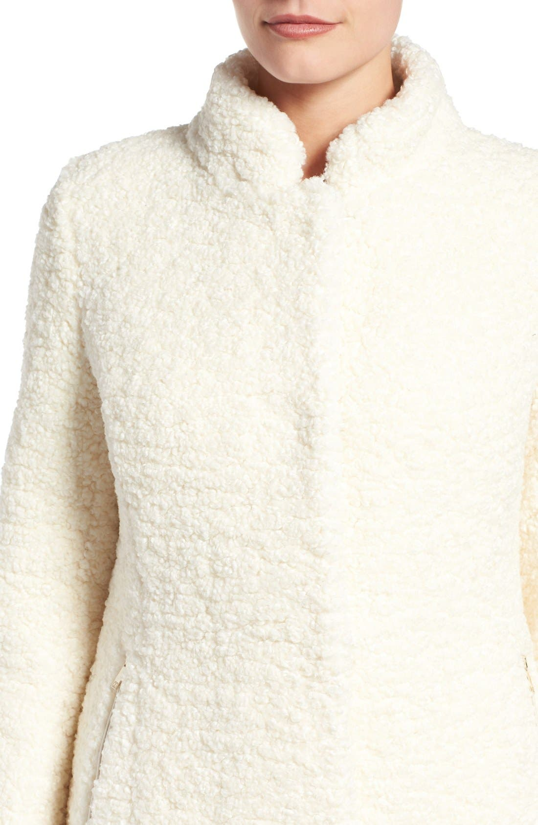Alternate Image 4  - Ivanka Trump Textured Faux Fur Coat