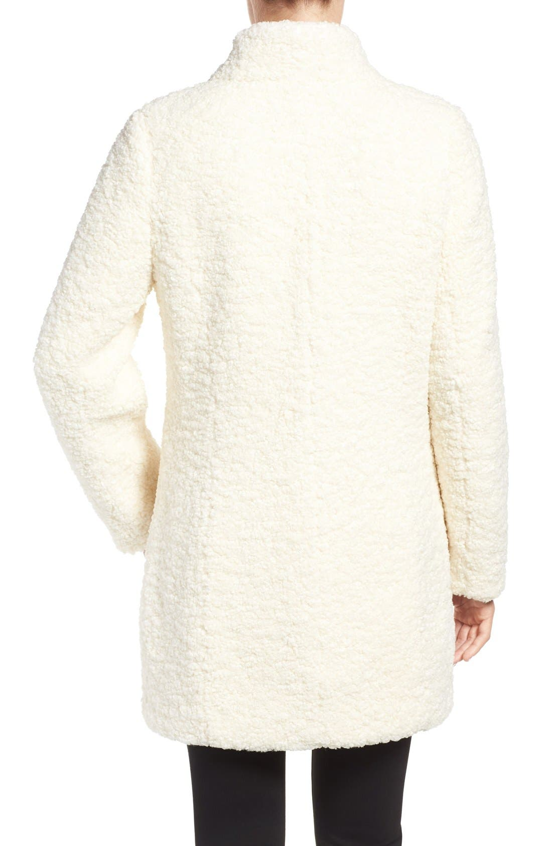 Alternate Image 2  - Ivanka Trump Textured Faux Fur Coat