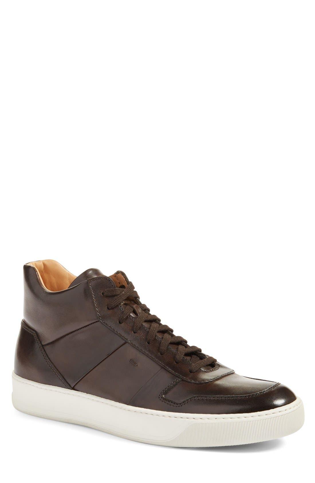 Santoni 'Ash' High Top Sneaker (Men)