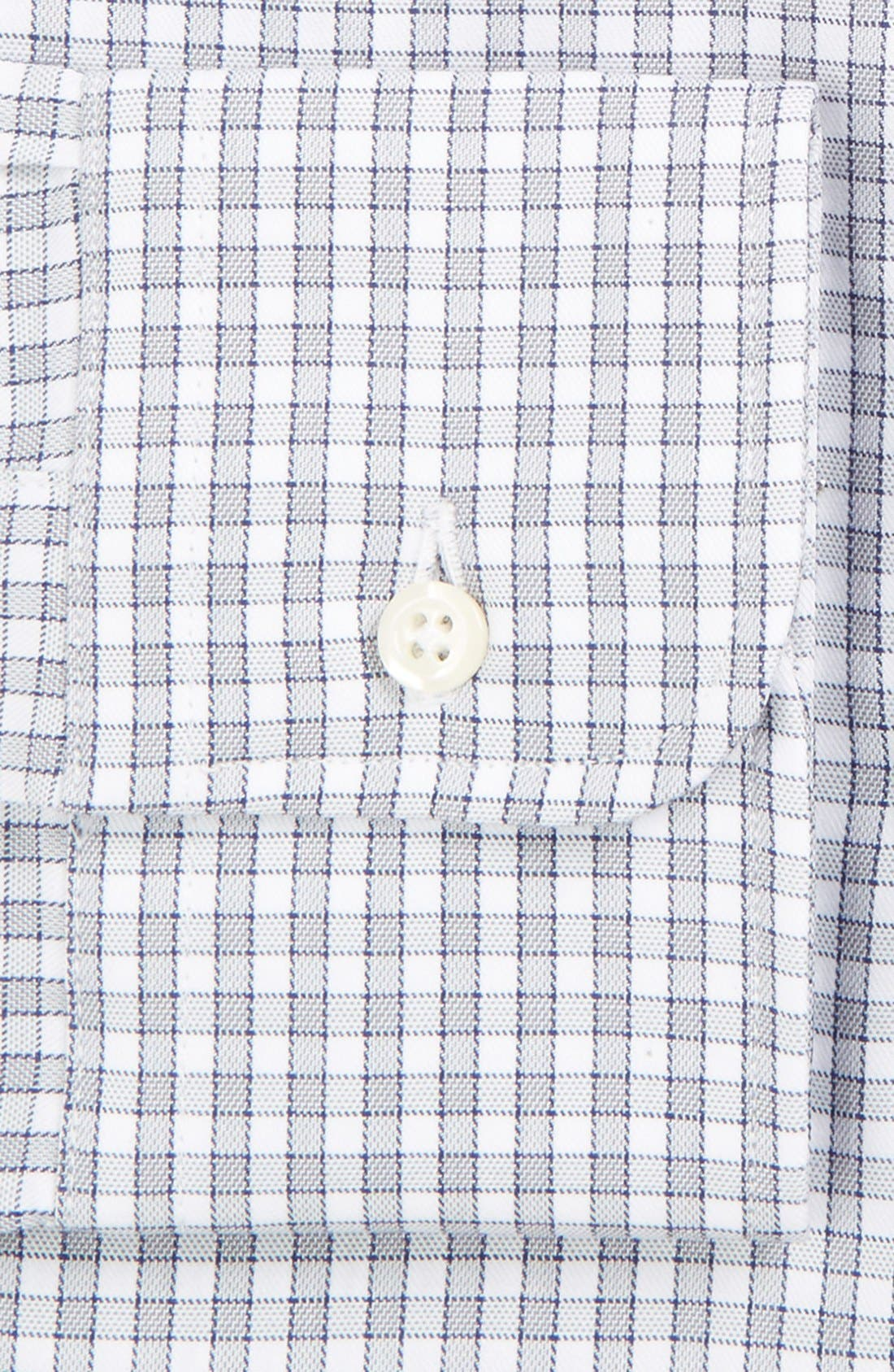 Regular Fit Gingham Check Dress Shirt,                             Alternate thumbnail 2, color,                             Grey