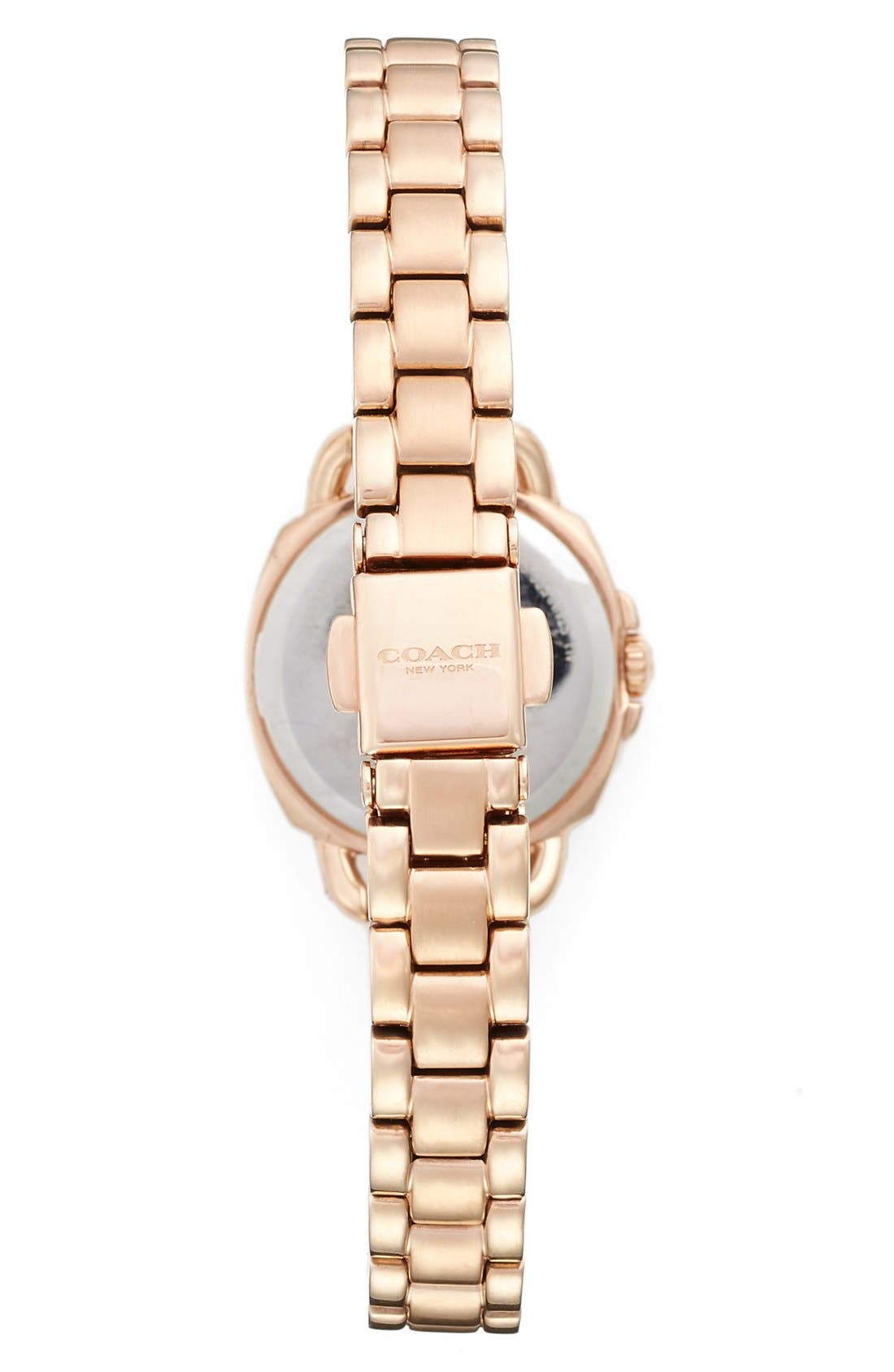 'Tatum' Crystal Bezel Bracelet Watch, 24mm,                             Alternate thumbnail 2, color,                             Rose Gold/ Silver