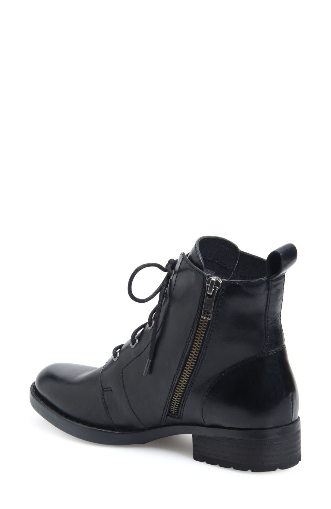Troye Vintage Lace-Up Boot,                             Alternate thumbnail 2, color,                             Black Leather