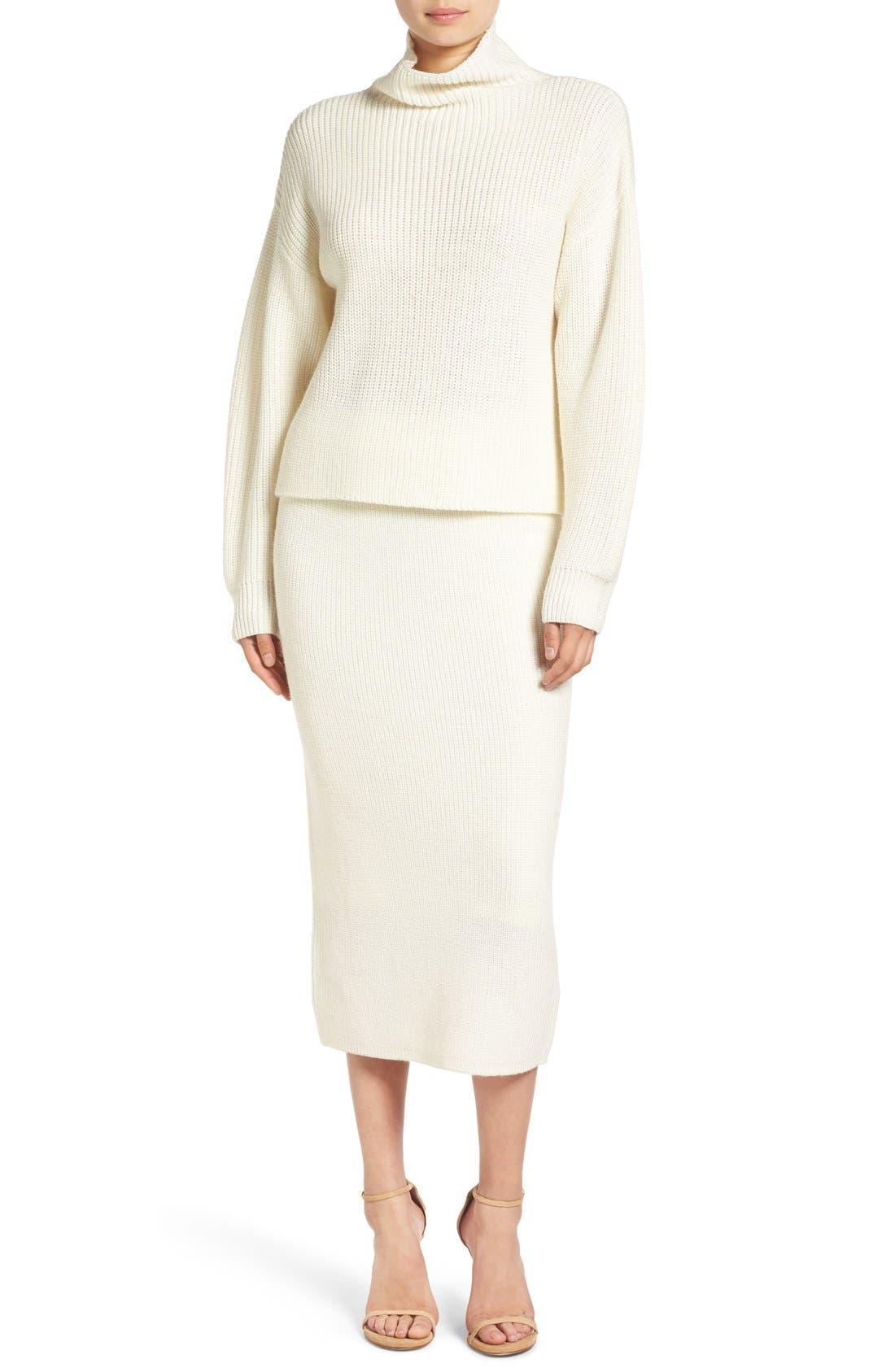 Alternate Image 6  - Paper Crown by Lauren Conrad 'Copenhagen' Knit Tube Skirt