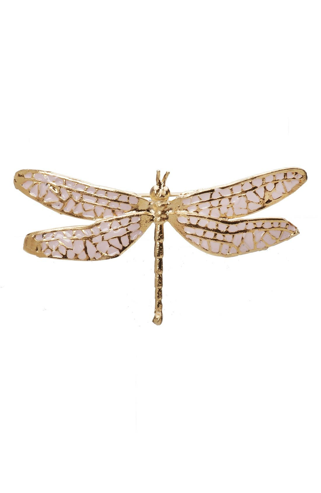 'Damsel Fly' Brooch,                             Main thumbnail 1, color,                             Pink/ Gold