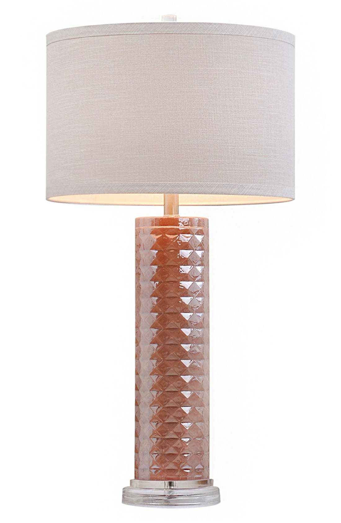 JAlexander Faceted Glass Table Lamp,                         Main,                         color, Pink