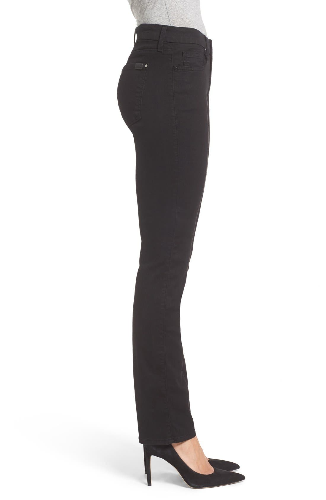 Stretch Slim Straight Leg Jeans,                             Alternate thumbnail 3, color,                             Riche Touch Black Noir