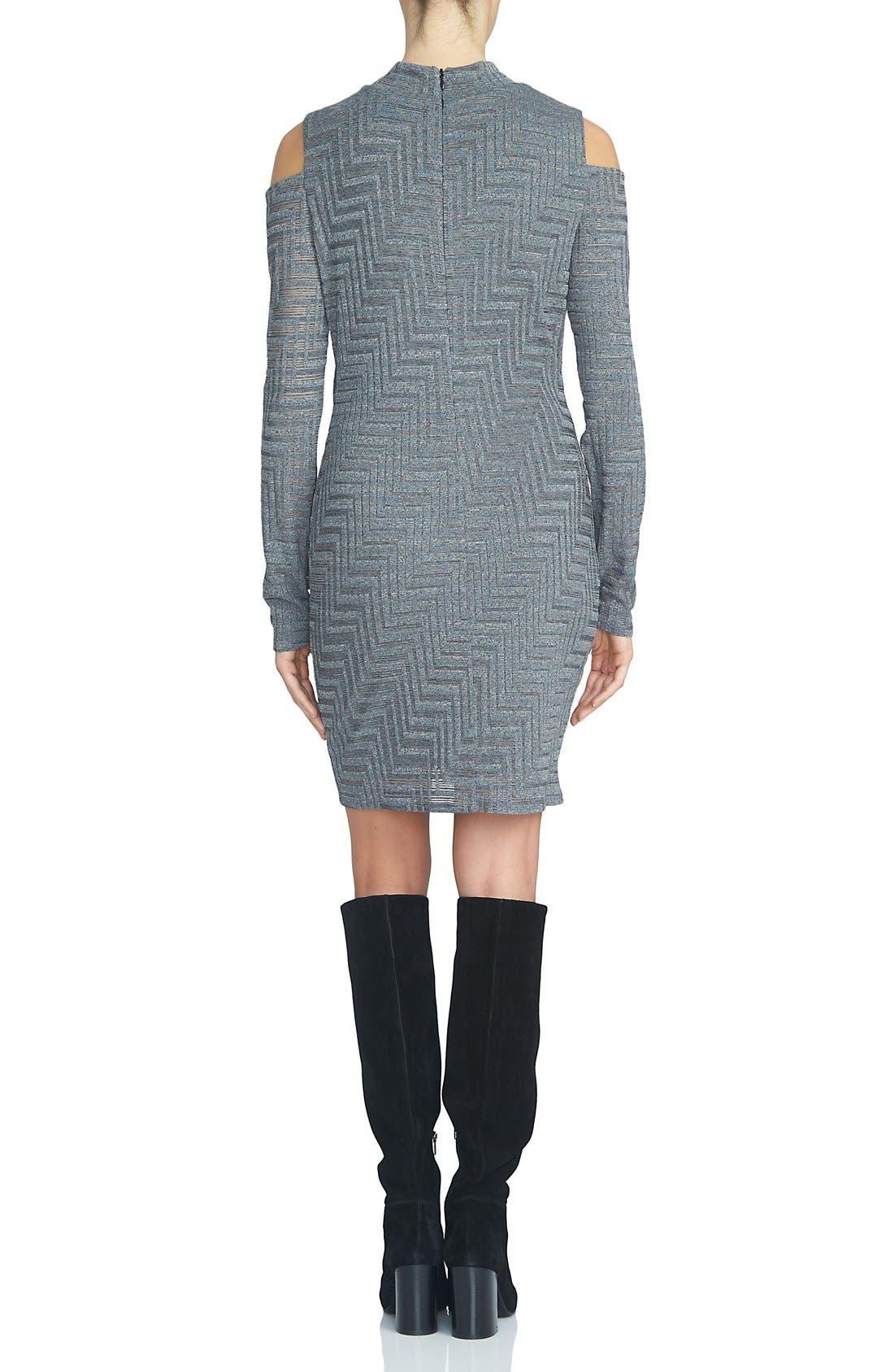 Alternate Image 2  - 1.STATE Cold Shoulder Sweater Dress